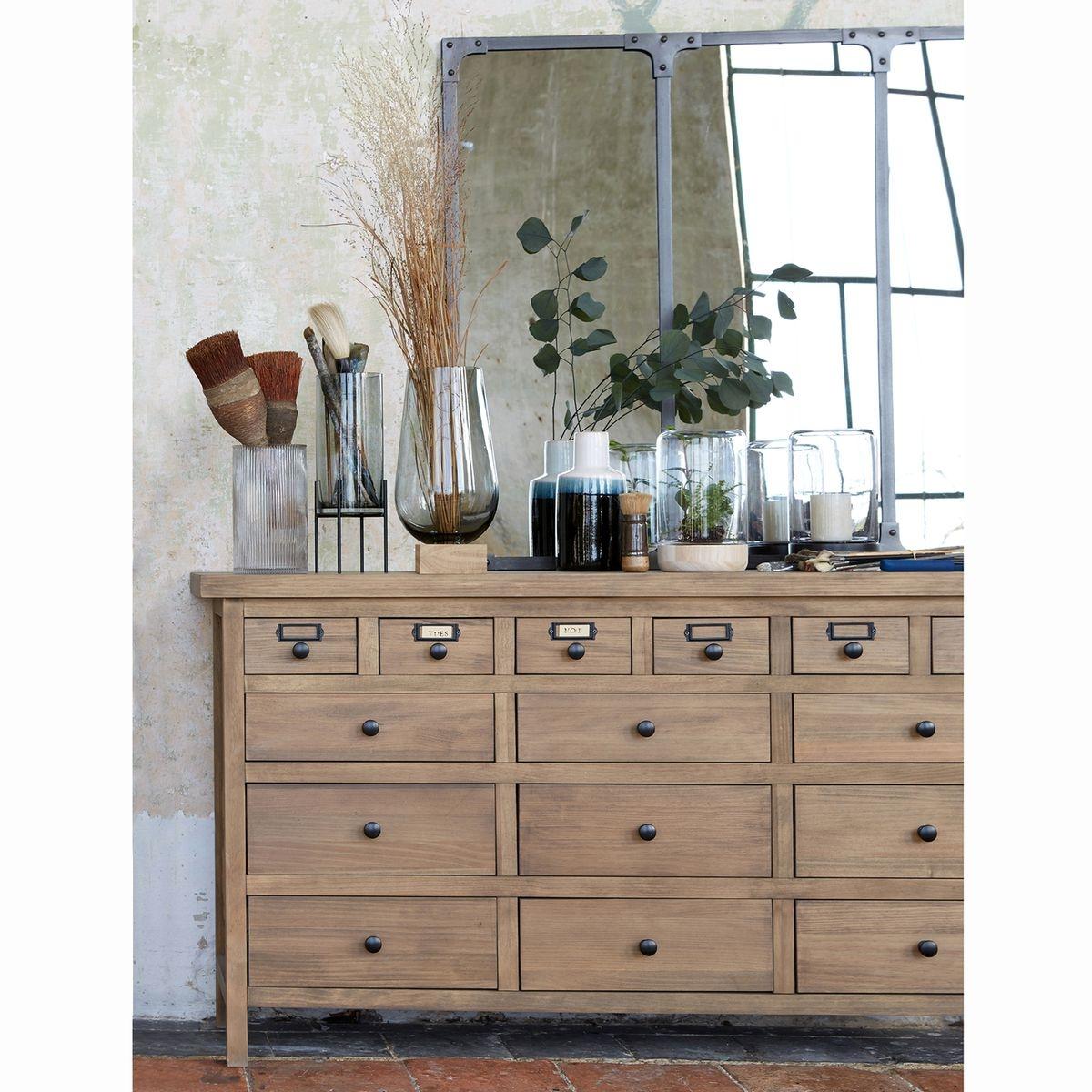Buffet meuble de métier 15 tiroirs, Lunja