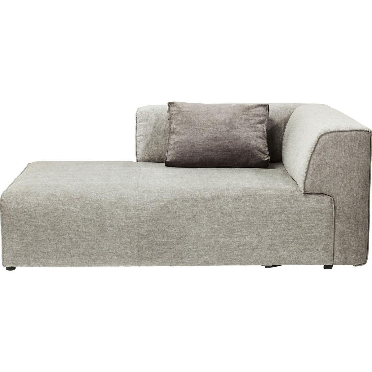 Canapé méridien d'angle gauche Infinity gris Kare Design