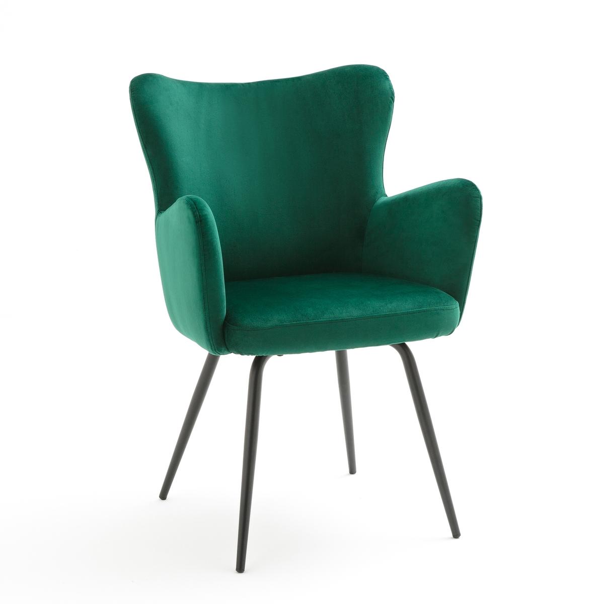 Кресло LaRedoute LUXORE единый размер зеленый кресло la redoute обеденное из велюра в винтажном стиле luxore единый размер синий