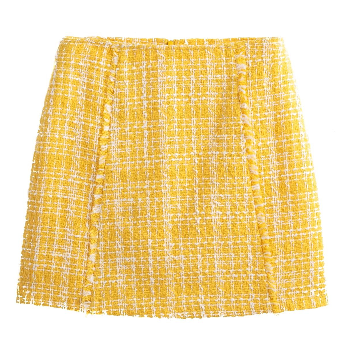 Falda recta estilo couture
