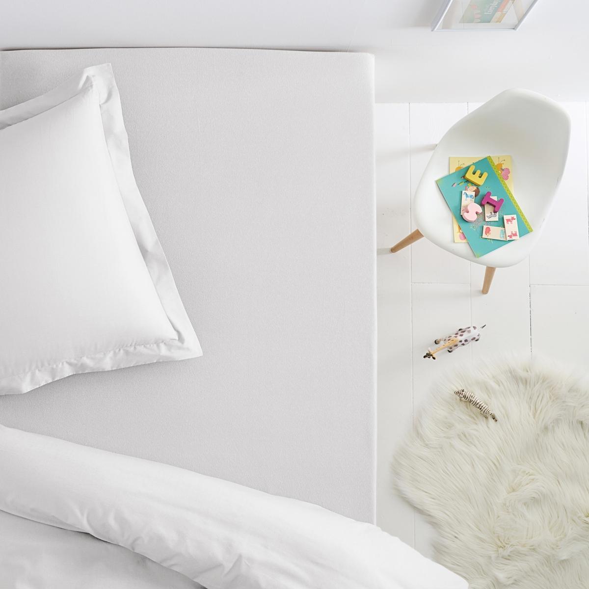 Натяжная простыня из джерси 100% хлопок для детской кроватиНатяжная простыня для детской кровати из джерси 100% хлопка, эластичная. Машинная стирка при 60 °C. Характеристики натяжной простыни джерси для детской кровати:-         Простыня выпускается в однотонной гамме оттенков, чтобы Вы могли сочетать с постельным бельём по Вашему настроению, желанию и по сезону!- Джерси 100% хлопок эластичный материал (130 г/см?).Стирка при 60°.                                                                                                                                                                                            Соответствие размеров натяжной простыни для детской кровати:                      90 x 140 см. : раскладная кровать                                 90 x 190 см   : 1-сп..                                                                                                                                                                                                                             Всю коллекцию Вы найдёте на сайтеSC?NARIO JERSEY COTON                                                                                                                        Знак Oeko-Tex® гарантирует, что товары протестированы и сертифицированы и не содержат вредных для здоровья веществ.<br><br>Цвет: белый,голубой бирюзовый,зелено-синий,розовый<br>Размер: 90 x 190  см