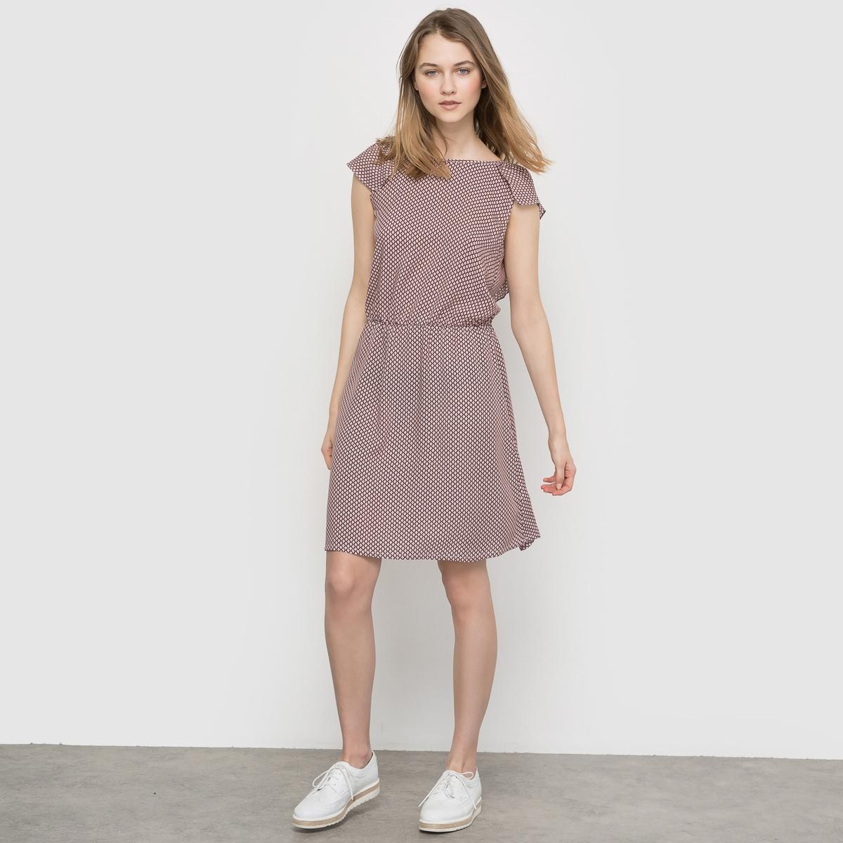 Платье с рисунком и декольте сзади от MADEMOISELLE R