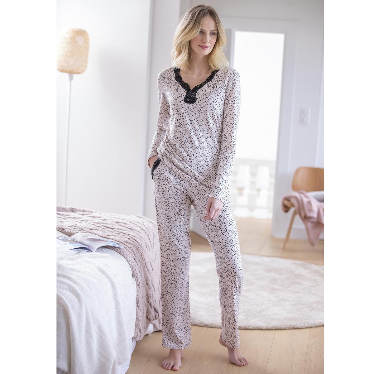 Пижама La Redoute Thermolactyl XL розовый
