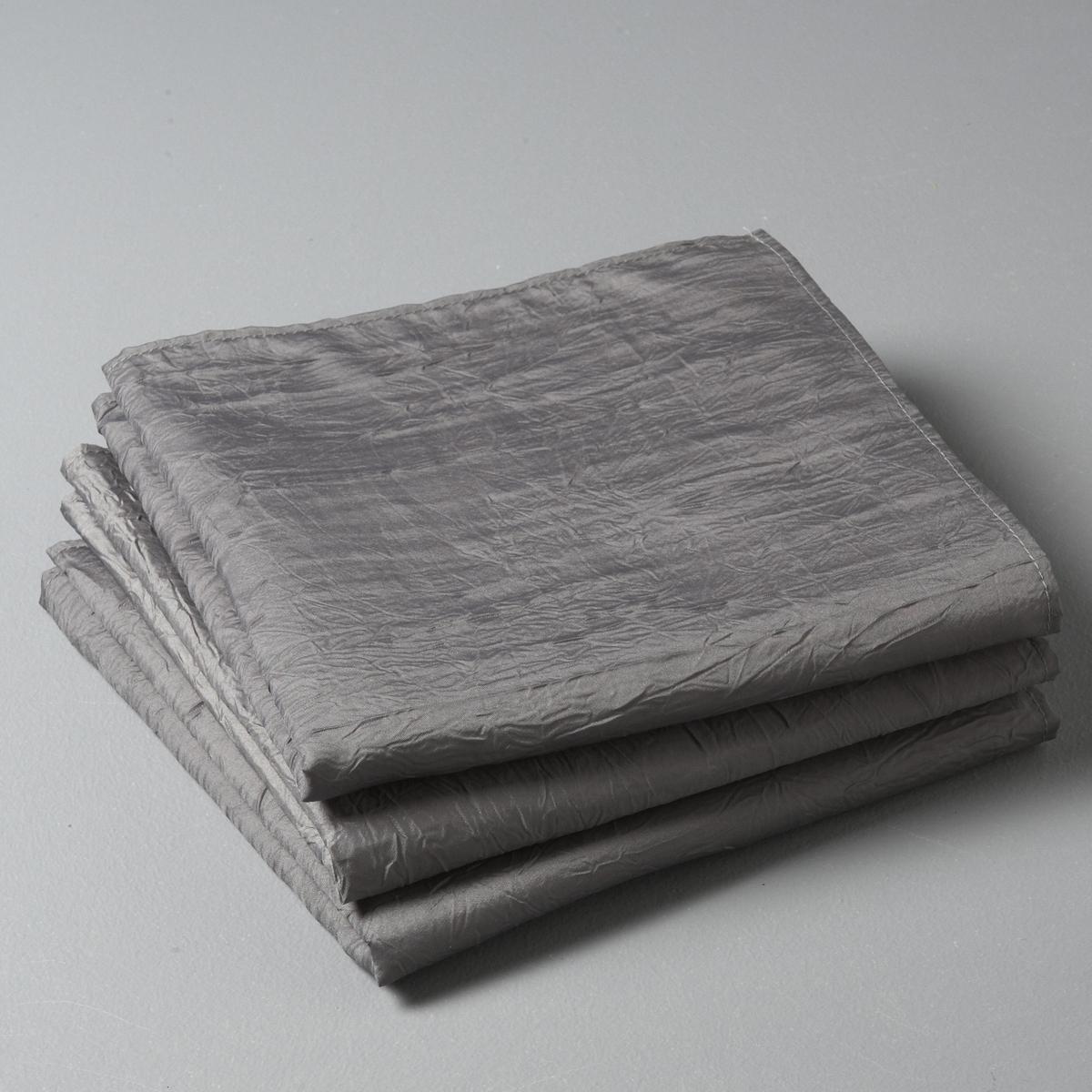 3 салфетки CeryasСалфетки Ceryas из шелковистой ткани с жатым эффектом: Простая в уходе ткань: быстро сохнет, не нужно гладить.Описание салфеток на стол:- Салфетки на стол из шелковистой ткани с жатым эффектом, 100% полиэстера.- Стирка при 40°, быстро сохнет, не нужно гладить.- Размеры: 45 x 45 см.<br><br>Цвет: антрацит,белый,красный,серо-коричневый каштан,серый,экрю<br>Размер: 45 x 45  см