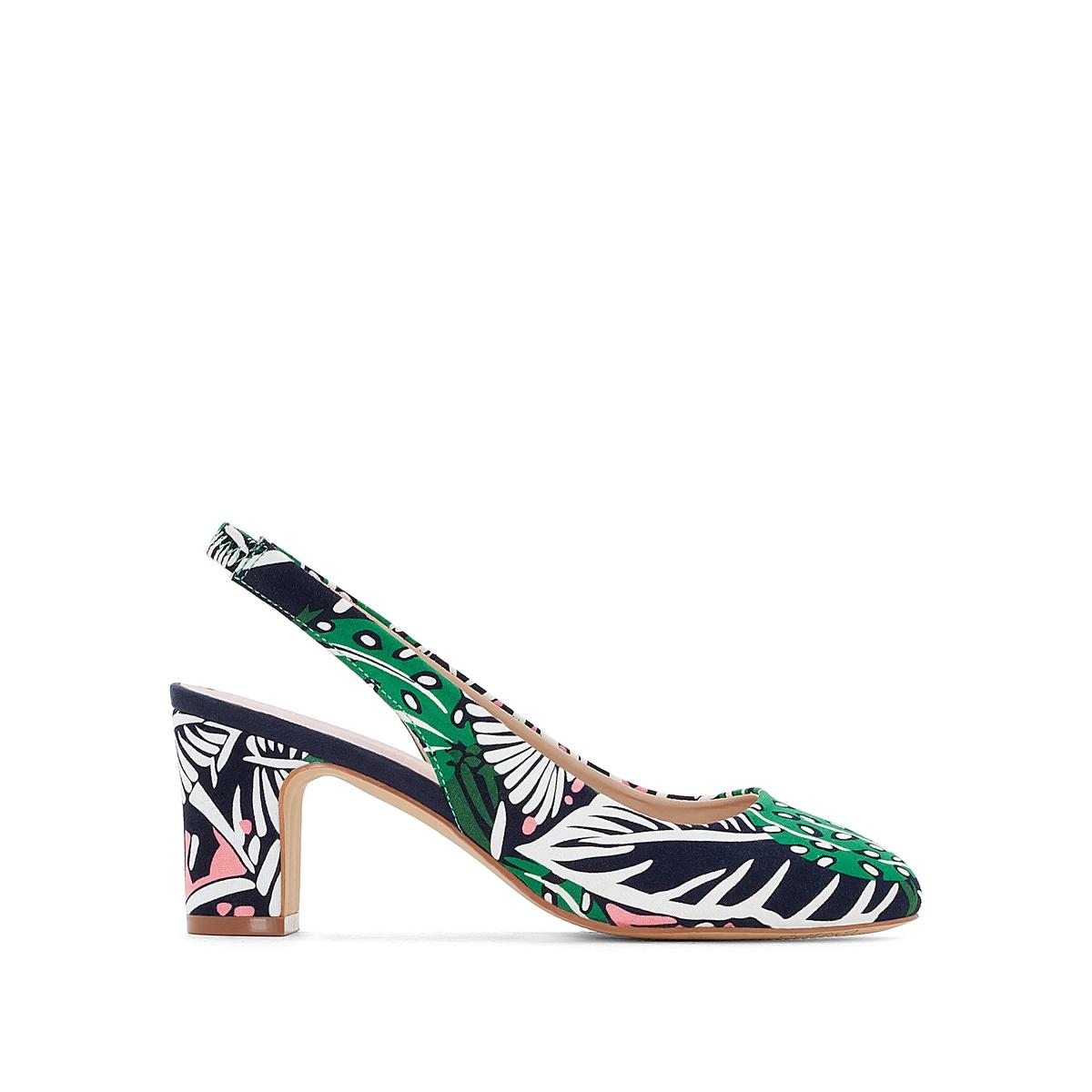 цены Туфли с тропическим рисунком
