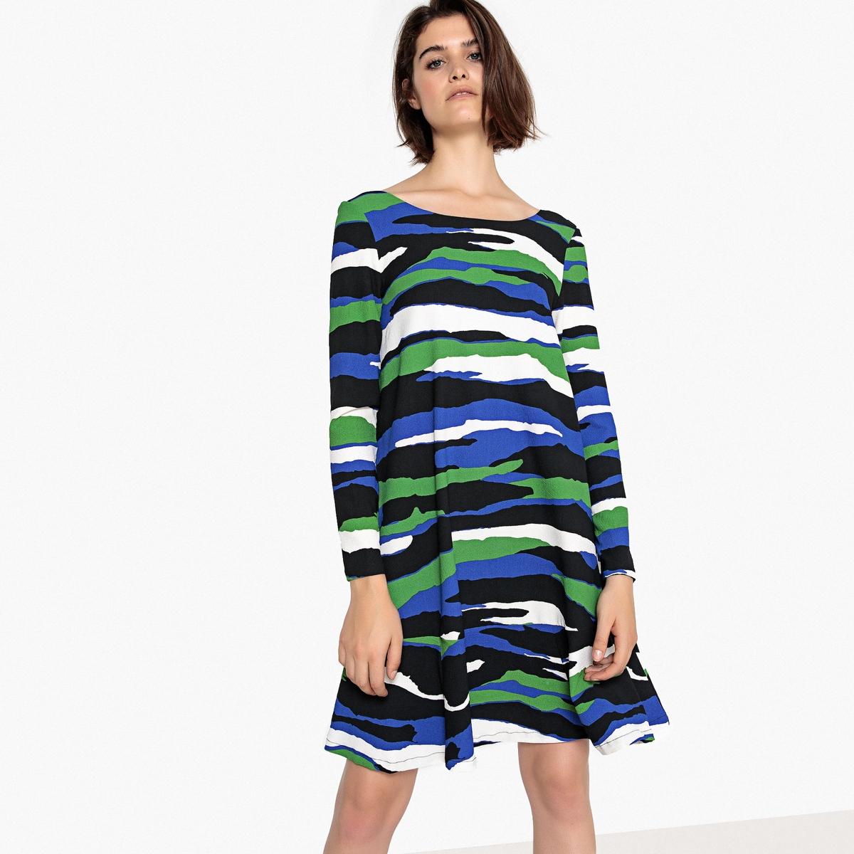 Платье с камуфляжным рисунком и баской meiller платье с баской