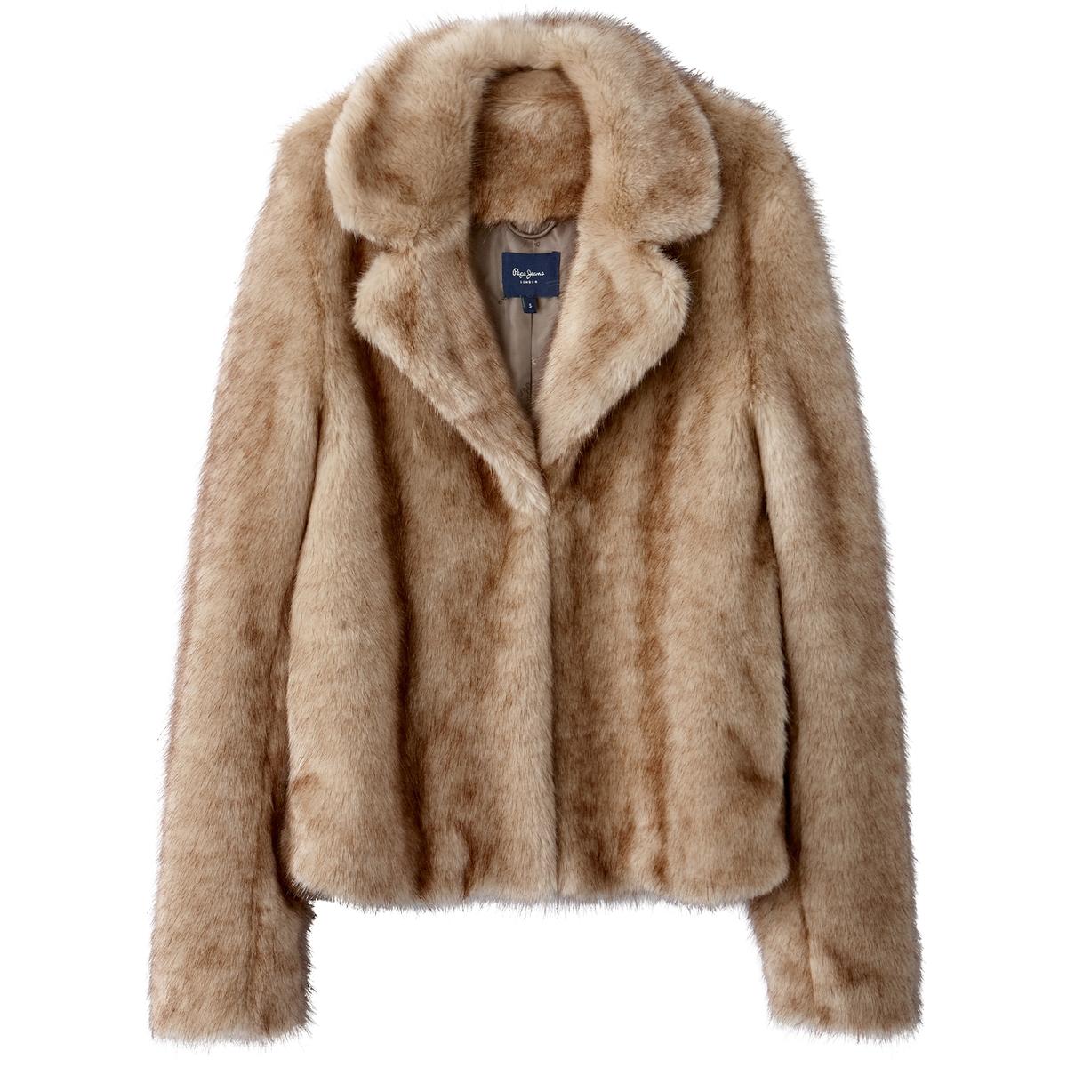 Пальто из искусственного мехаОписание:Этой зимой полупальто Cosima от PEPE JEANS с искусственным мехом  на пике моды . Теплое и мягкое, в нем будет приятно в любом месте .Детали •  Длина : средняя •  Воротник-поло, рубашечный • Застежка на пуговицыСостав и уход •  100% акрил •  Следуйте советам по уходу, указанным на этикетке<br><br>Цвет: бежевый<br>Размер: L