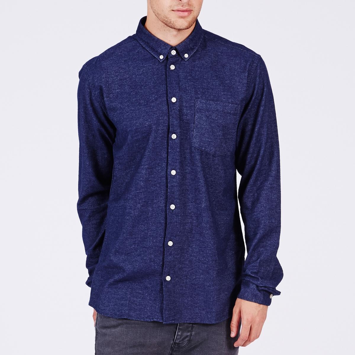 Рубашка PELHAM покрой приталенныйСостав и описаниеМатериал: 100% хлопка.Марка:        MINIMUM<br><br>Цвет: синий<br>Размер: L