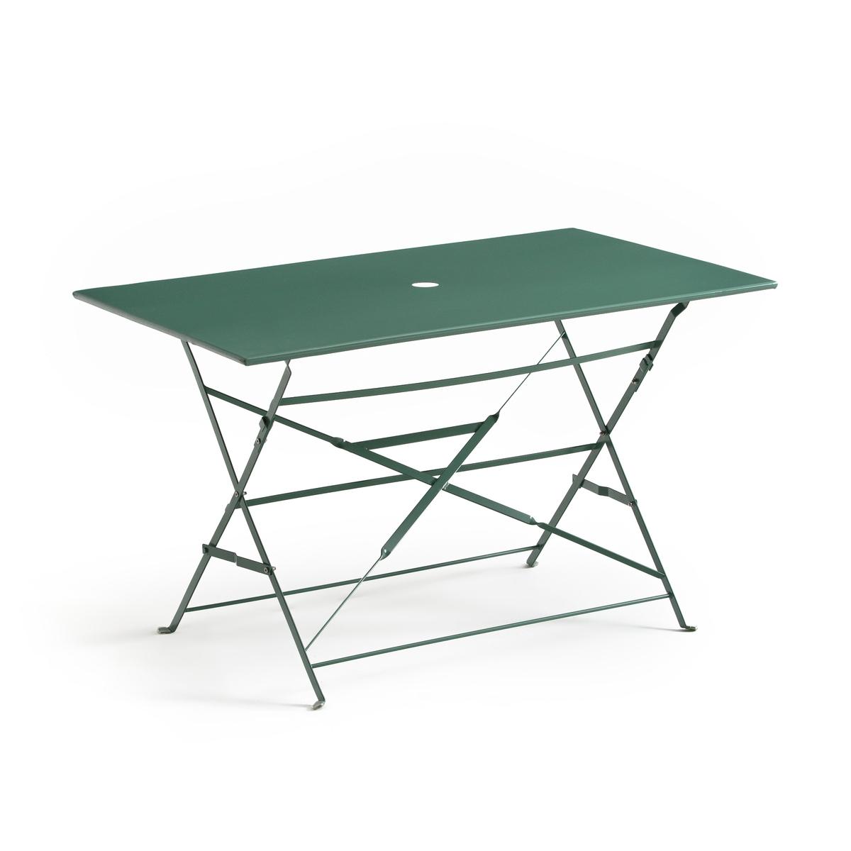 Стол складной прямоугольной формы из металла OZEVAN