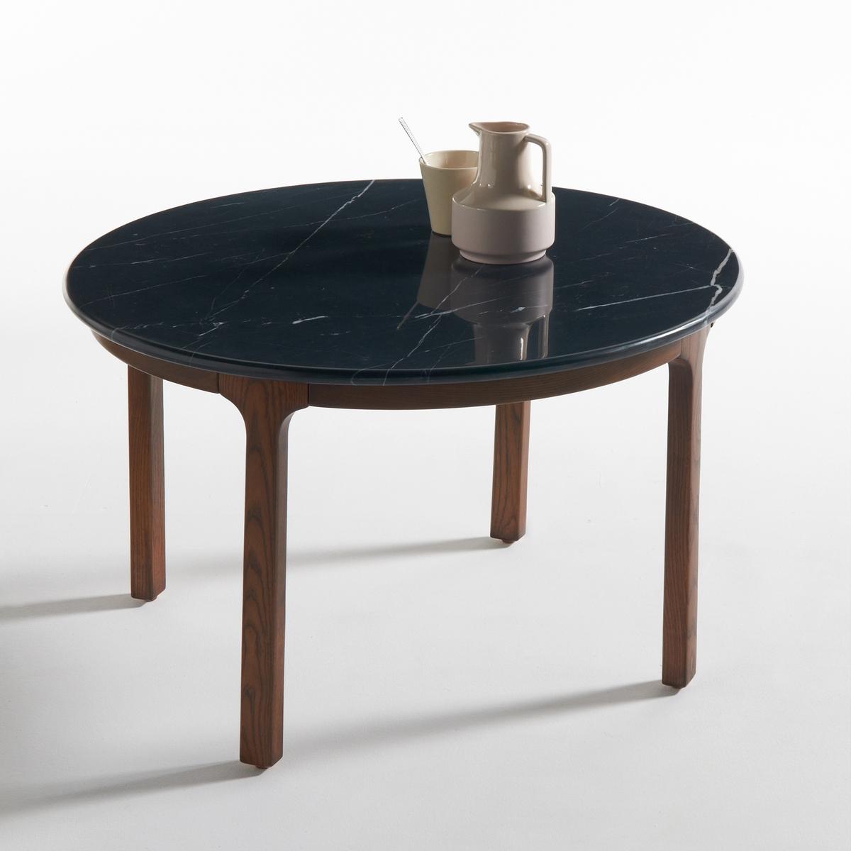 Журнальный La Redoute Столик с мраморной столешницей Botello единый размер черный
