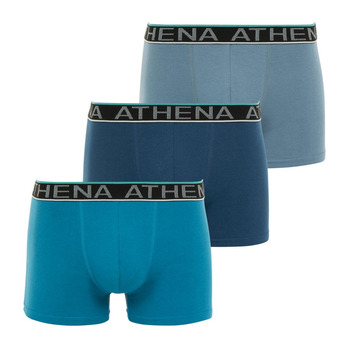 Комплект из 3 трусов-боксеровОписание:Комплект из 3 трусов-боксеров для мужчин Easy Chic от Athena с тонкой цветной линией на поясе. великолепная модель от Athena : изящные трусы-боксеры (3 шт.)Состав и описание :Комплект из 3 трусов-боксеров для мужчин. Логотип Athena на поясе. Контрастная деталь. Материал : 95% хлопка, 5% эластана.. Джерси. Марка : ATHENA.Модель : Easy ChicУход :Стирать при 40° с вещами схожих цветов.Машинная сушка запрещена.<br><br>Цвет: темно-синий + синий + серый,черный + черный + черный