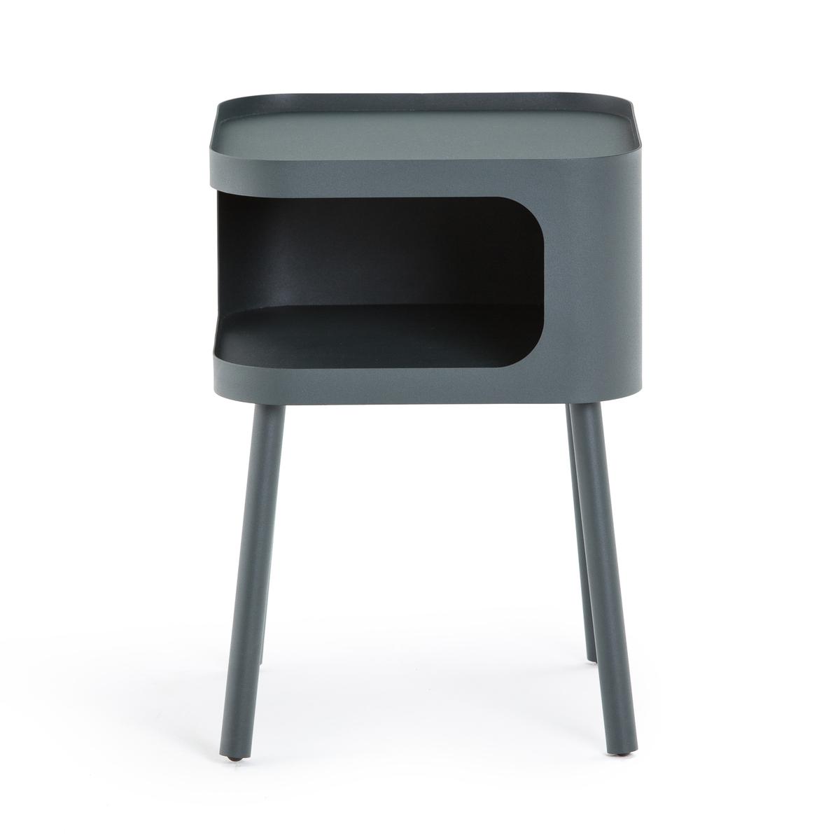Столик La Redoute Прикроватный из металла Malakou единый размер серый