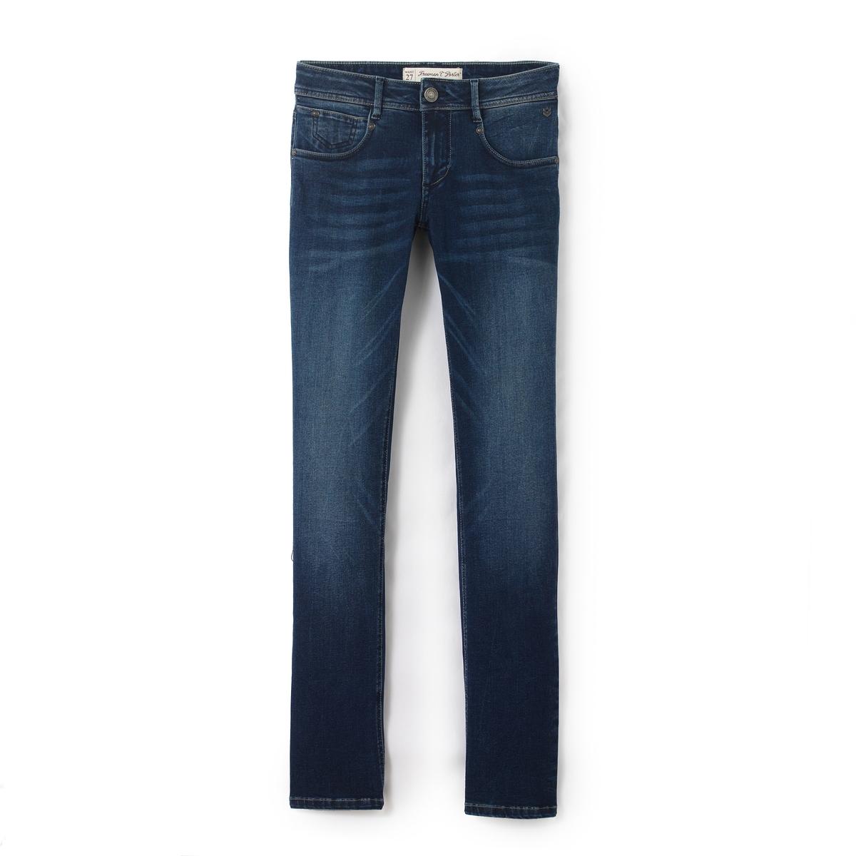 Джинсы прямые CHARLIE, стандартная высота поясаМатериал : 90% хлопка, 8% эластомультиэстера, 2% эластана            Высота пояса : стандартная          Покрой джинсов : классический, прямой          Длина джинсов : длина 32<br><br>Цвет: синий<br>Размер: 24 длина 32