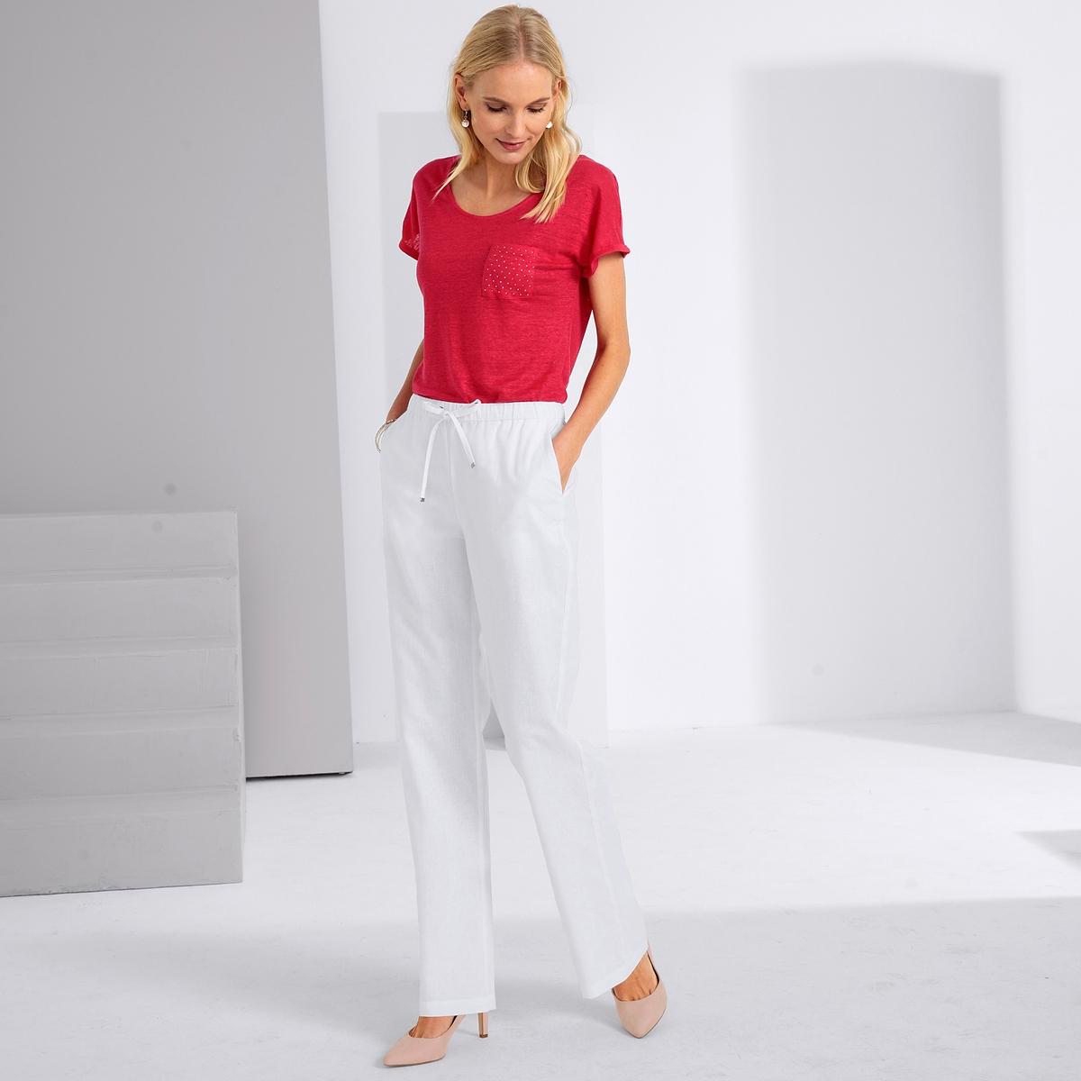 Imagen principal de producto de Camiseta con cuello redondo, 100% lino - Anne weyburn