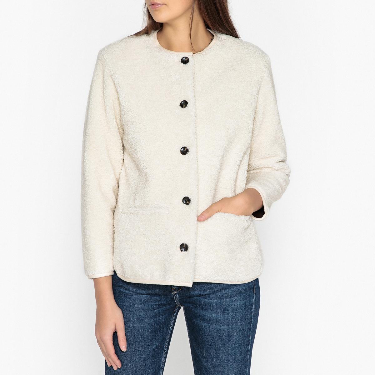 Жакет прямого покроя ENZO рубашка прямого покроя большого размера с контрастными пуговицами