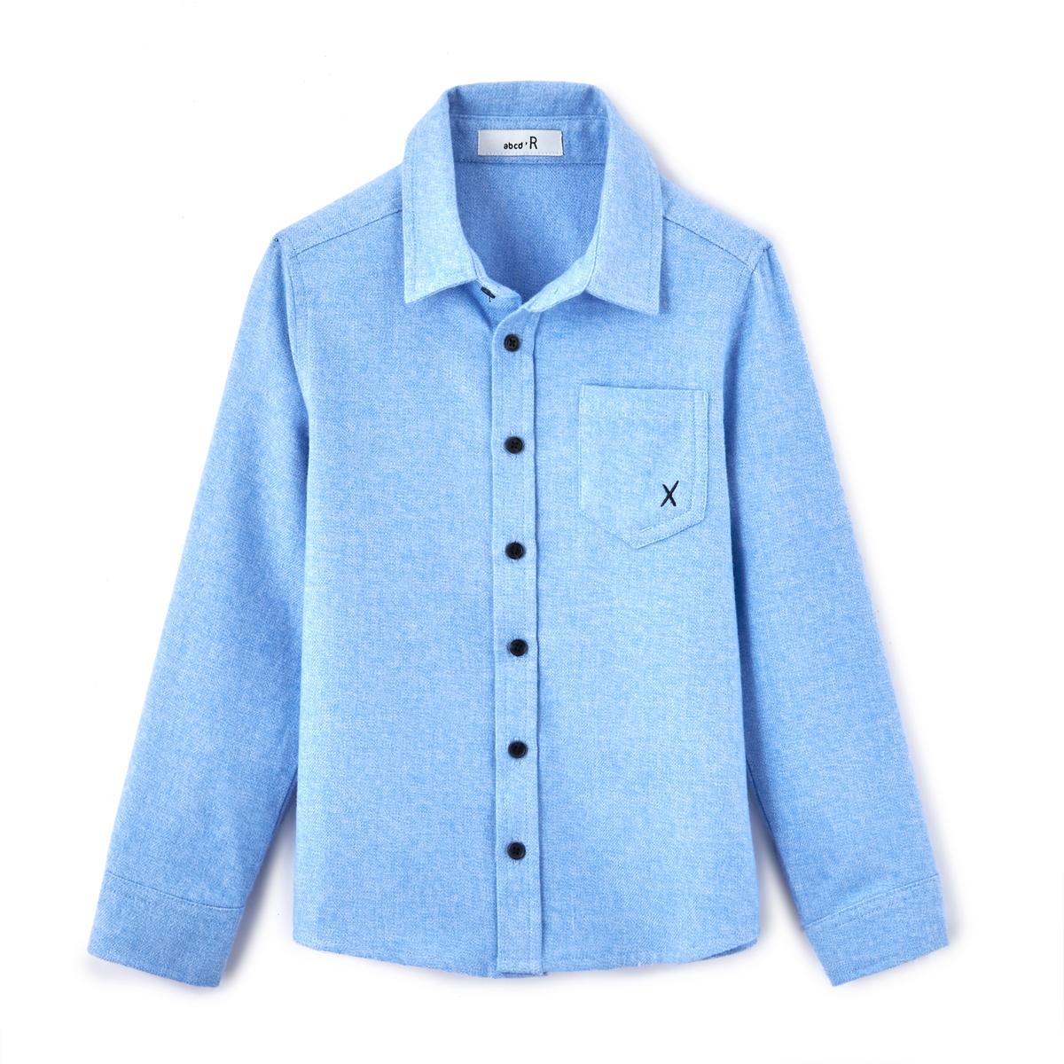 Рубашка с фланелевым эффектом, 3-12 летДетали •  Длинные рукава •  Прямой покрой •  Классический воротникСостав и уход •  100% хлопок •  Температура стирки 30°   •  Сухая чистка и отбеливание запрещены    •  Барабанная сушка на деликатном режиме •  Низкая температура глажки<br><br>Цвет: синий