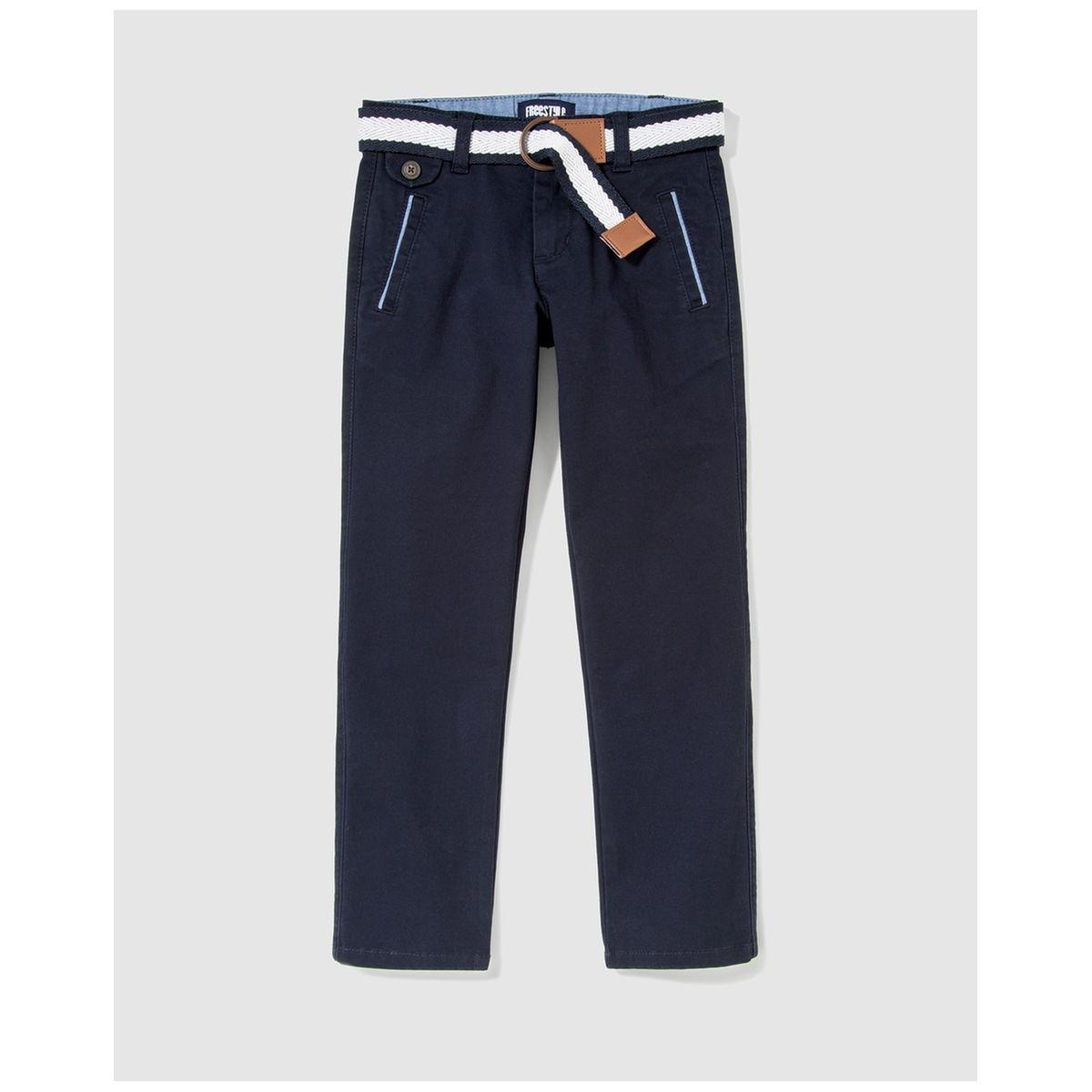 Pantalon chino  à ceinture