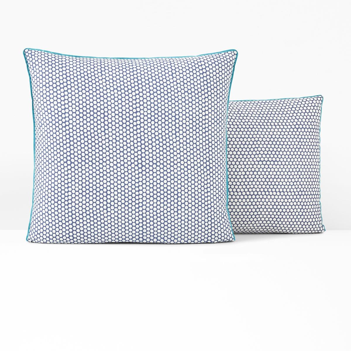 Наволочка LaRedoute На подушку или подушку-валик из перкали DUO 63 x 63 см синий наволочка la redoute из хлопка nayma 63 x 63 см серый