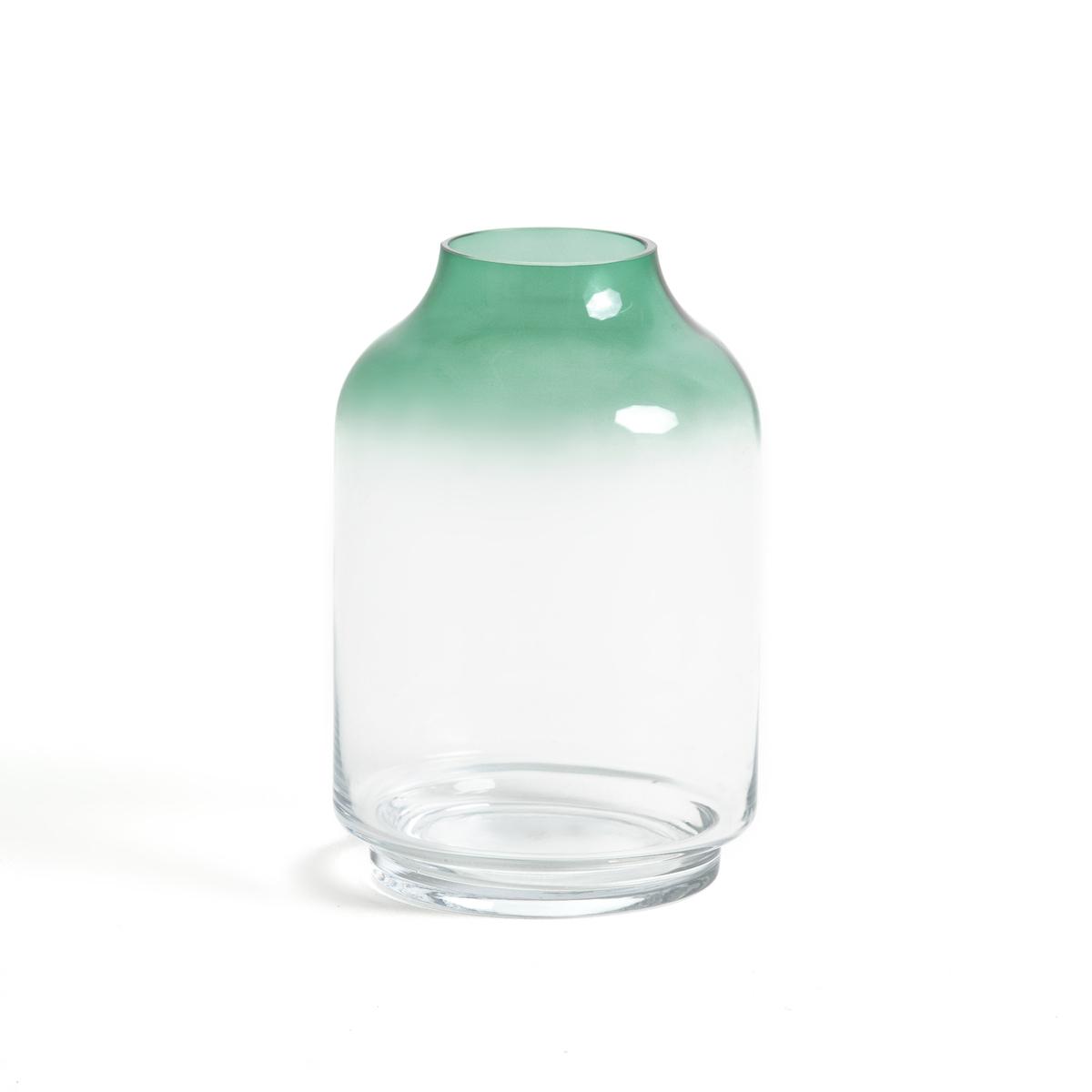 Ваза из стекла H26 см, EPURВаза Epur с объемным и прозрачным эффектом !Описание вазы Epur :Ваза из обычного и затемненного стекла Размеры вазы Epur :? 17 см Высота 26 смОткройте для себя всю коллекцию декора на сайте laredoute.ru<br><br>Цвет: прозрачный/ зеленый
