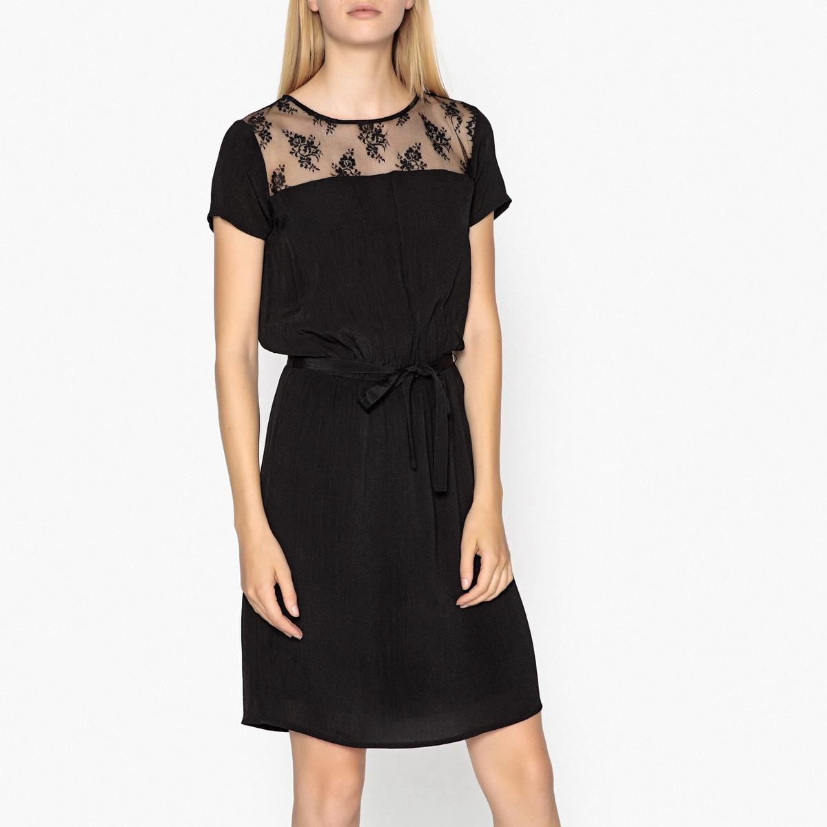 Платье с отделкой кружевом CHARLOTTE SATIN