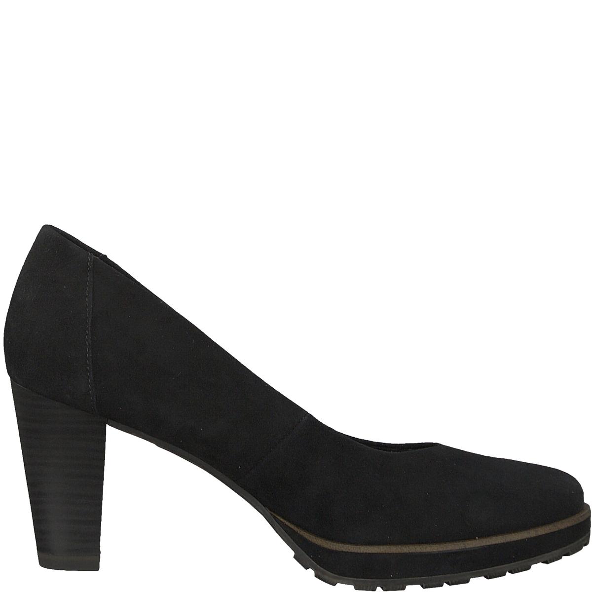 Туфли кожаные VickyДетали •  Широкий каблук •  Высота каблука : 8 см. •  Застежка : без застежки •  Круглый мысокСостав и уход •  Верх 100% козья кожа •  Подкладка 50% синтетического материала, 50% текстиля •  Стелька 100% кожа<br><br>Цвет: черный