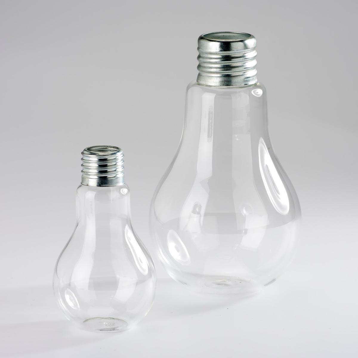 2 вазы AM.PM.2 вазы Galice из прозрачного стекла и металла напоминают формой лампочки. Размер: высота 11 см и 16 см.<br><br>Цвет: прозрачный