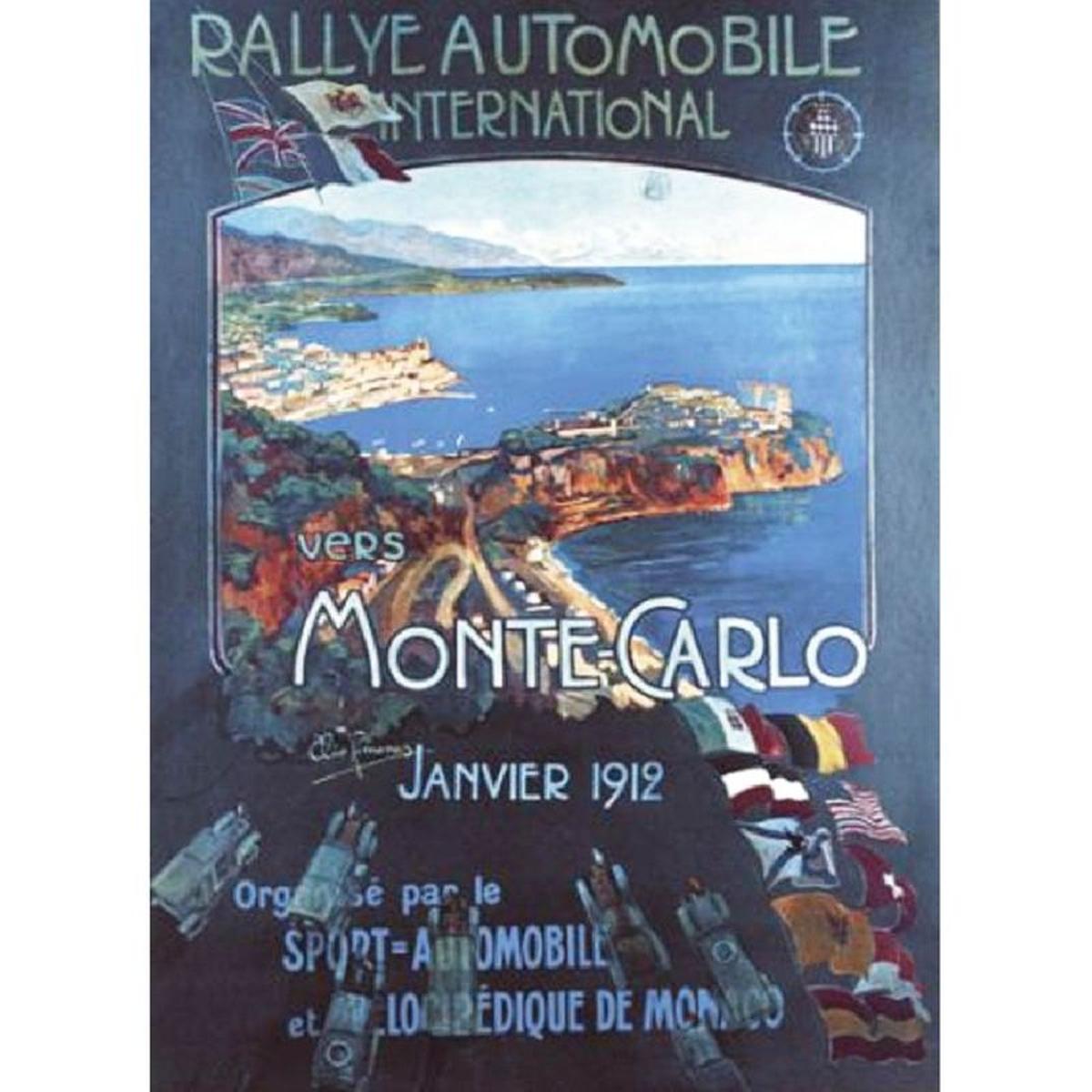 Affiche rectangulaire Monaco 1912
