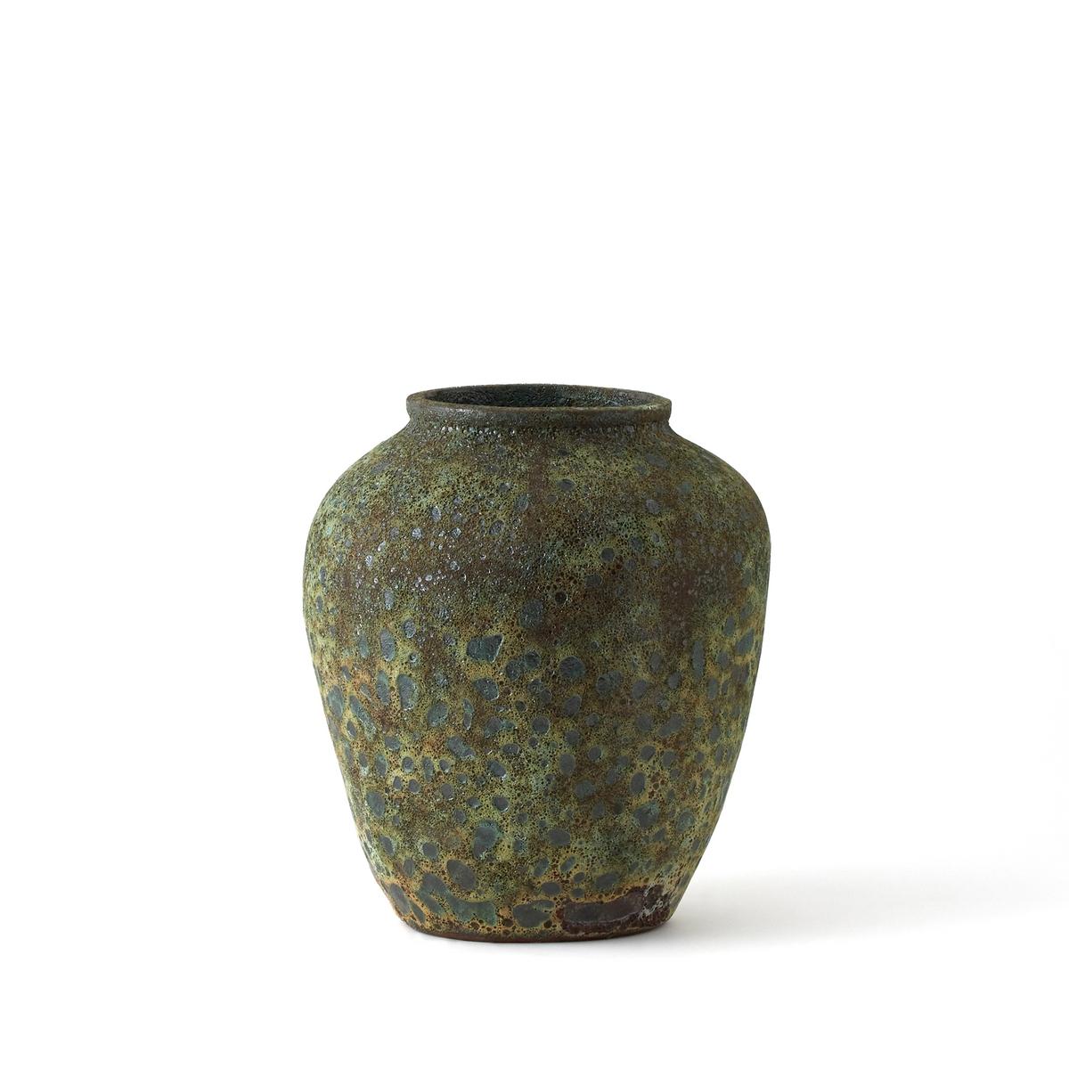 Ваза керамическая ?35 x В40 см, KesenerВаза Kesener. Из керамики с эффектом реагента. Размер : ?35 x В40 см, вес 15,5 кг.<br><br>Цвет: зеленый