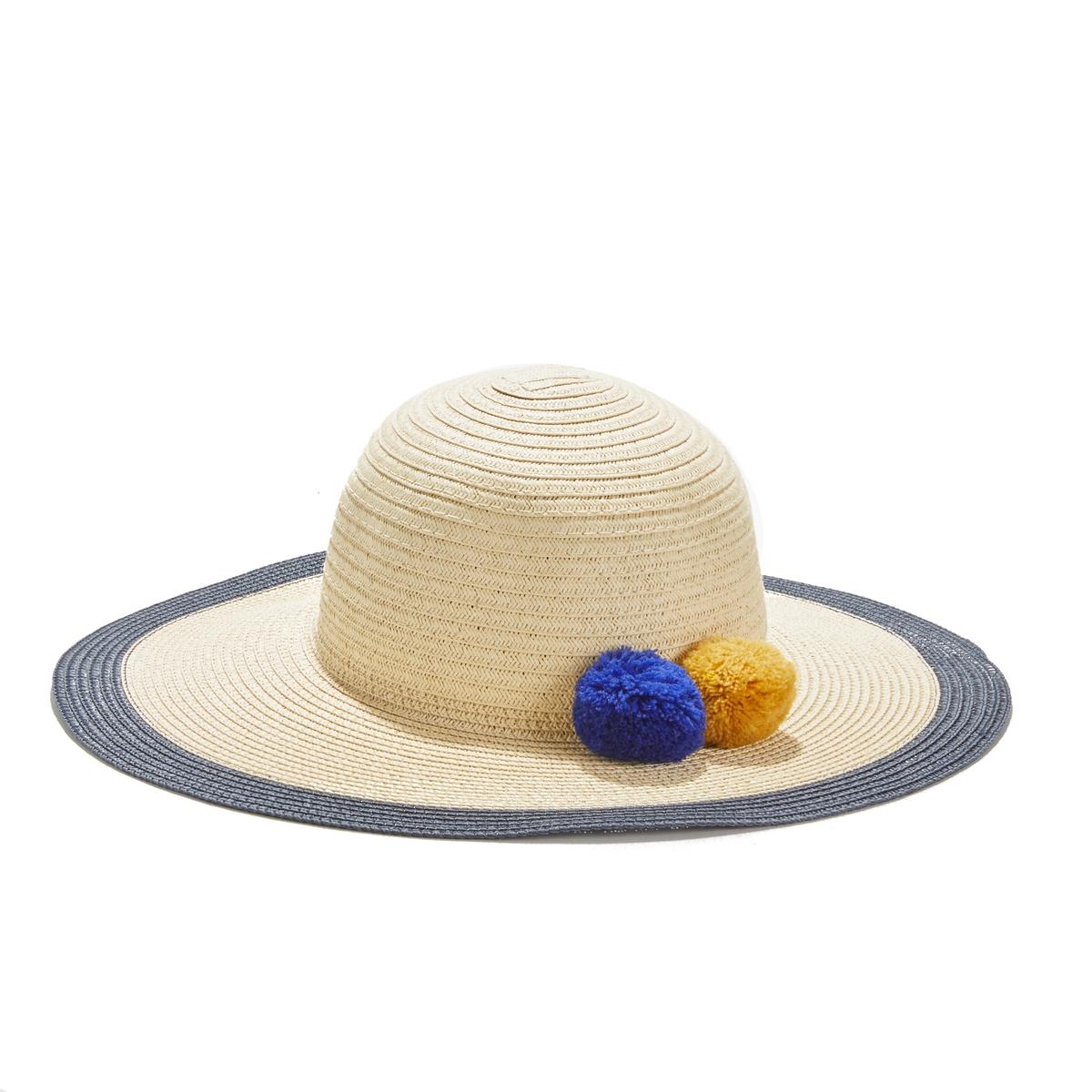 Шляпа La Redoute С помпонами UNI бежевый сумка клатч la redoute с помпонами uni черный