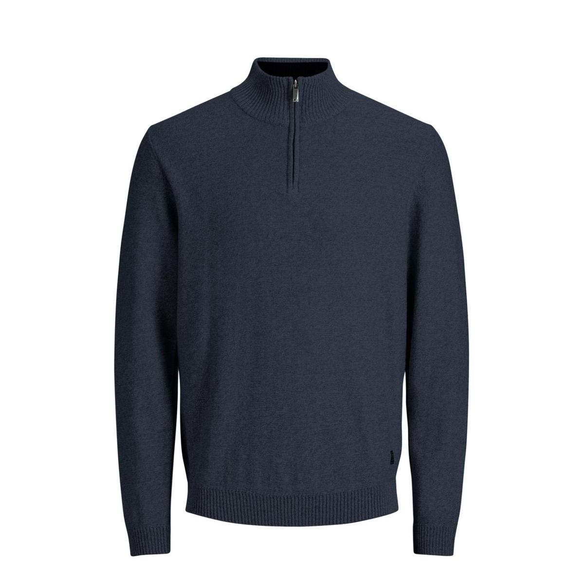 Пуловер с воротником-стойкой, из тонкого трикотажа