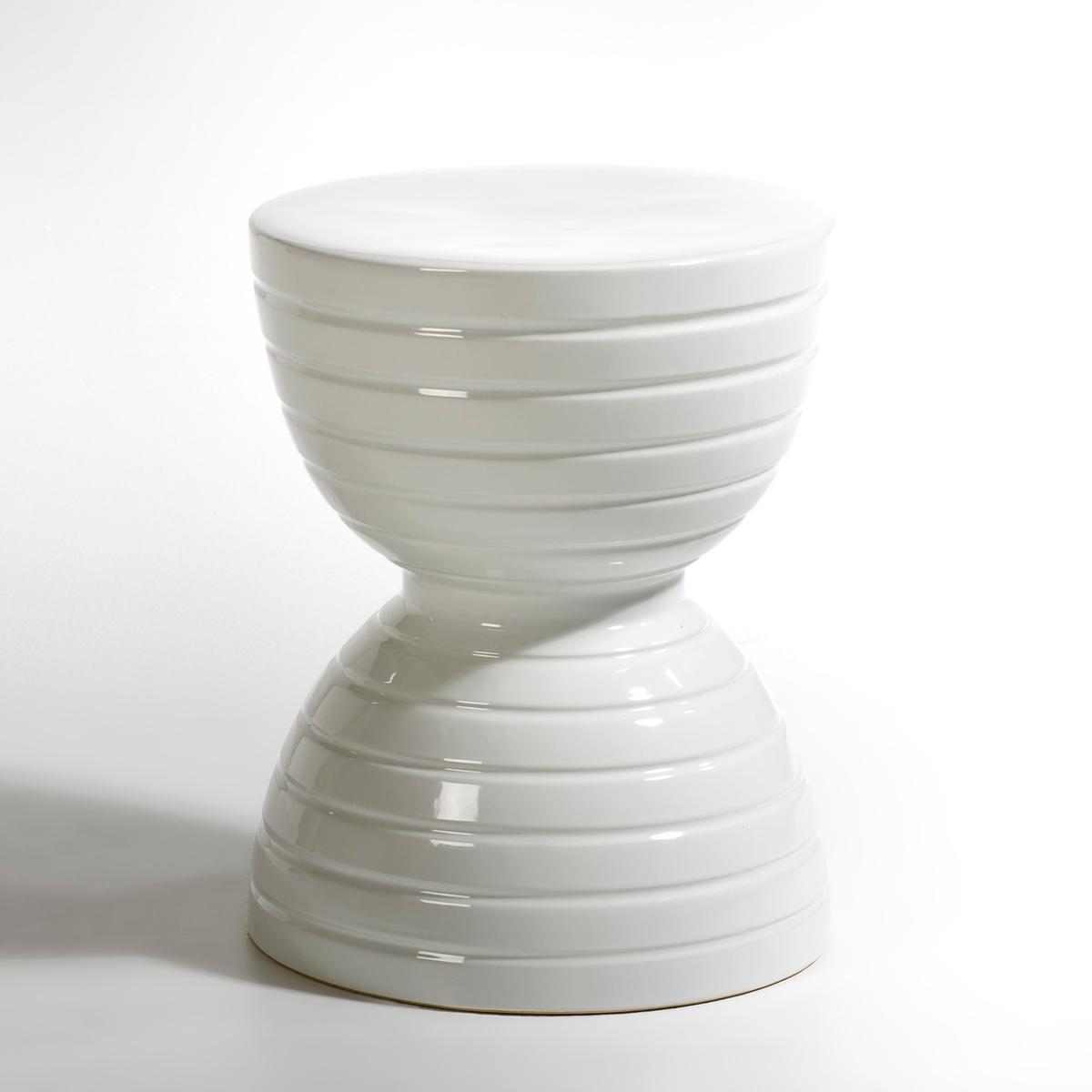Столик керамический диванный, SpoolХарактеристики: : - Из керамики, покрытой эмалью Размеры : - ?35 x В44 см<br><br>Цвет: белый