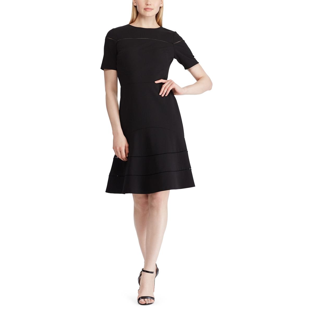 Платье La Redoute Расклешенное с короткими рукавами 40 (FR) - 46 (RUS) черный платье la redoute расклешенное с короткими рукавами с гипюром 42 fr 48 rus черный