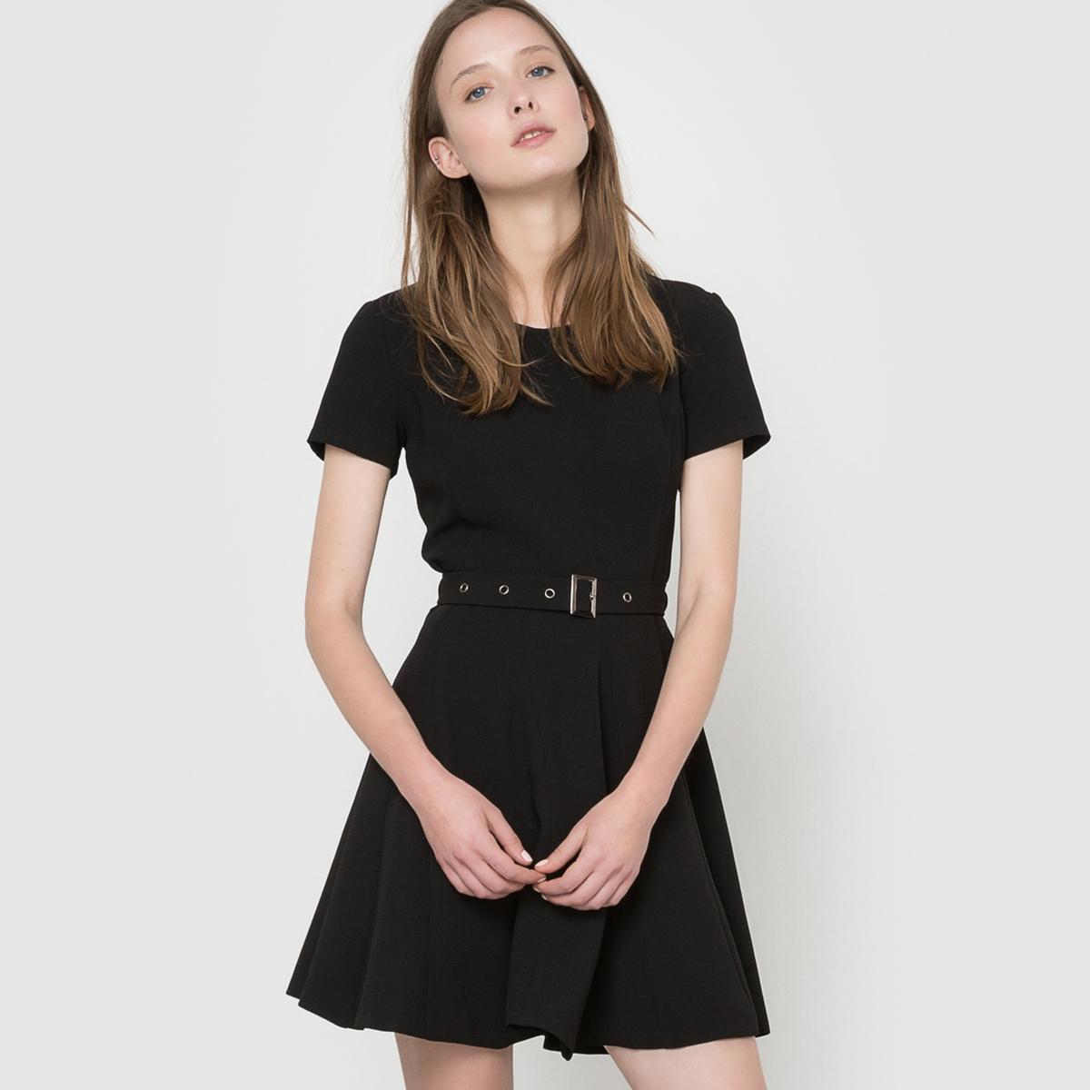 Платье с короткими рукавами, MOLLY BRACKENСостав и описаниеМатериал: 100% полиэстера.Длина: 83см.Марка: MOLLY BRACKEN.<br><br>Цвет: черный<br>Размер: L.M