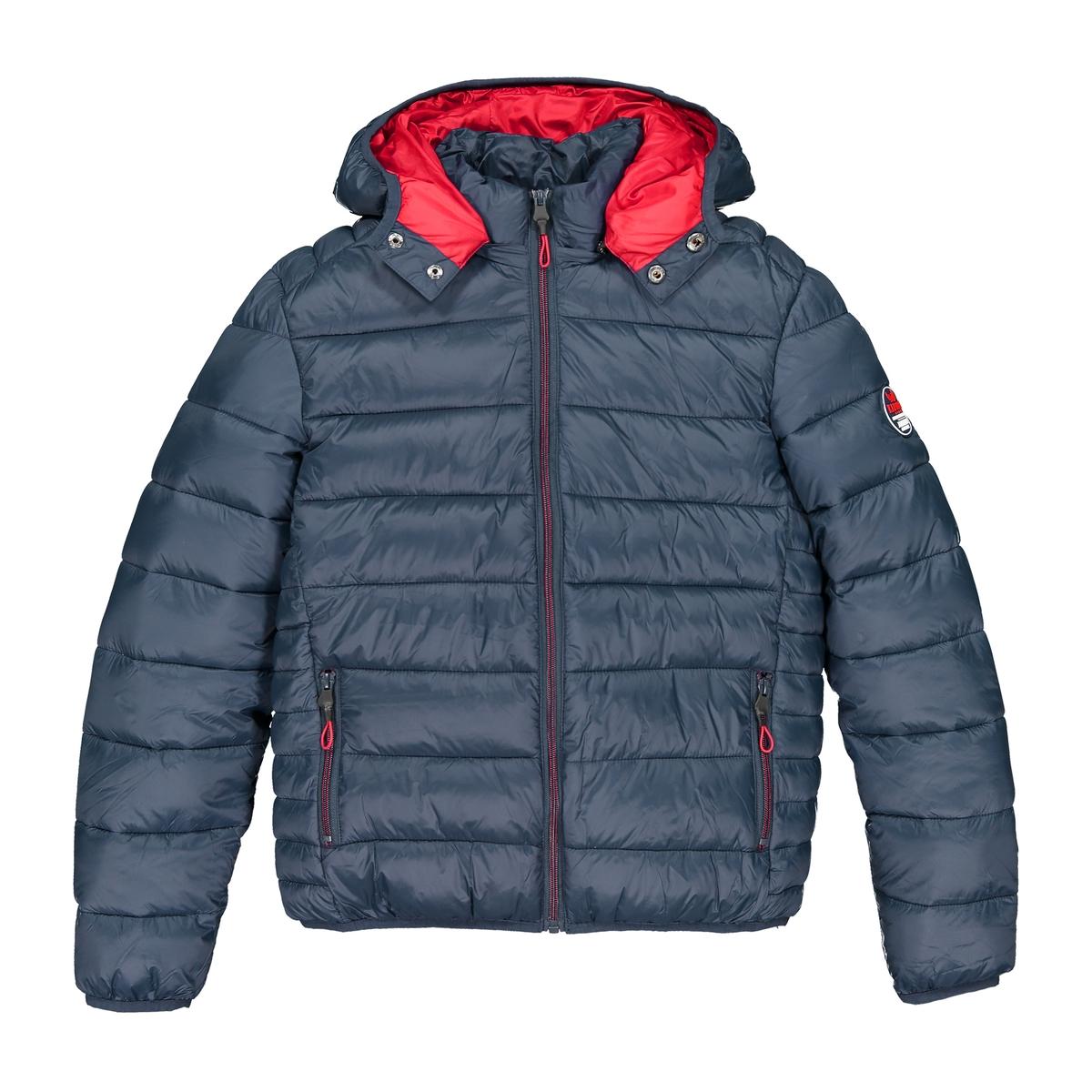 Куртка La Redoute Стеганая с капюшоном 14 лет - 162 см синий пуховая стеганая куртка с капюшоном