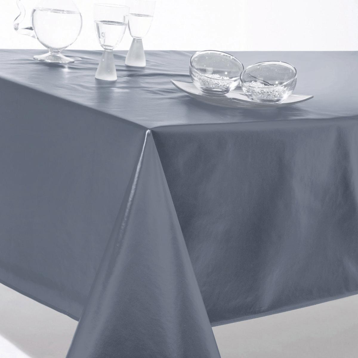 Скатерть однотонная из ПВХХарактеристики однотонной скатерти из ПВХ:  Клеенка 90% ПВХ, 10% полиэстера.  Отделка бейкой.Откройте для себя подходящий комплект текстиля для столовой Scenario на сайте laredoute.ru<br><br>Цвет: красный,светло-серый,серый