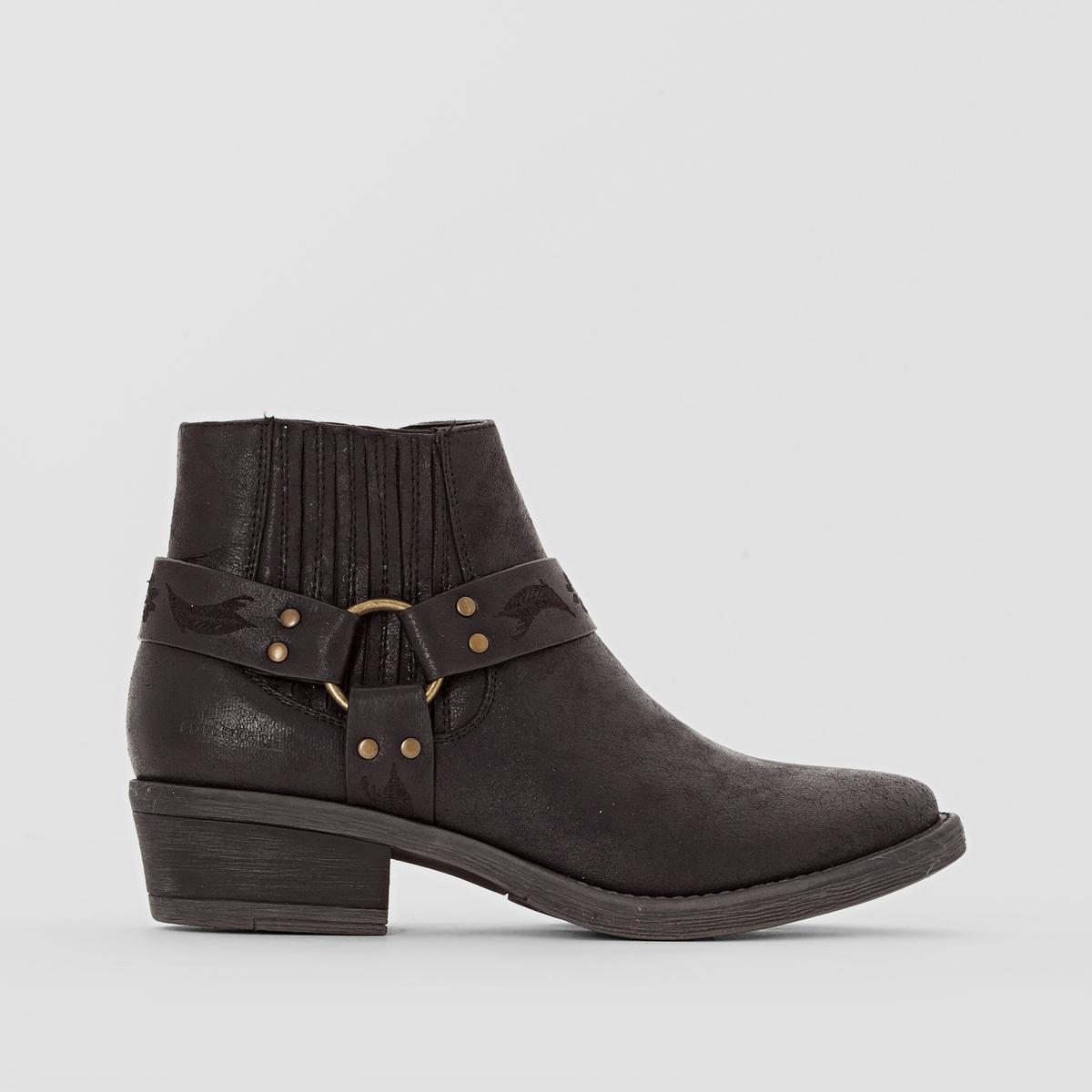 Ботильоны BERYLПодкладка : Микрофибра      Стелька : Микрофибра       Подошва : каучук.       Высота каблука : 3 см   Высота голенища : 11 см.   Форма каблука : Широкий    Носок : Закругленный.   Застежка : На молнии<br><br>Цвет: черный