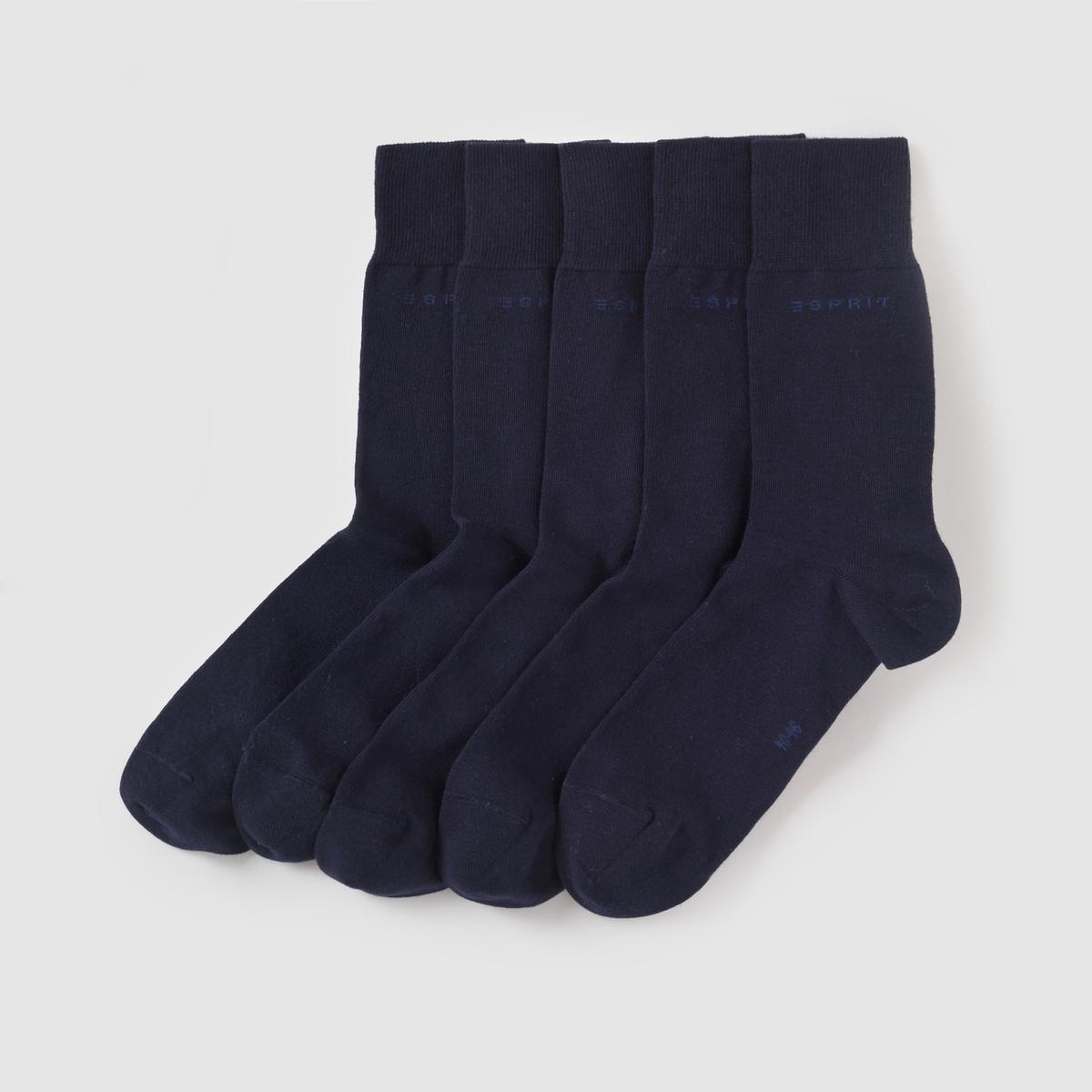 5 пар носковСостав и описание :Материал : 75% хлопка, 23% полиамида, 2% эластана.Марка : ESPRIT.<br><br>Цвет: антрацит,темно-синий,черный