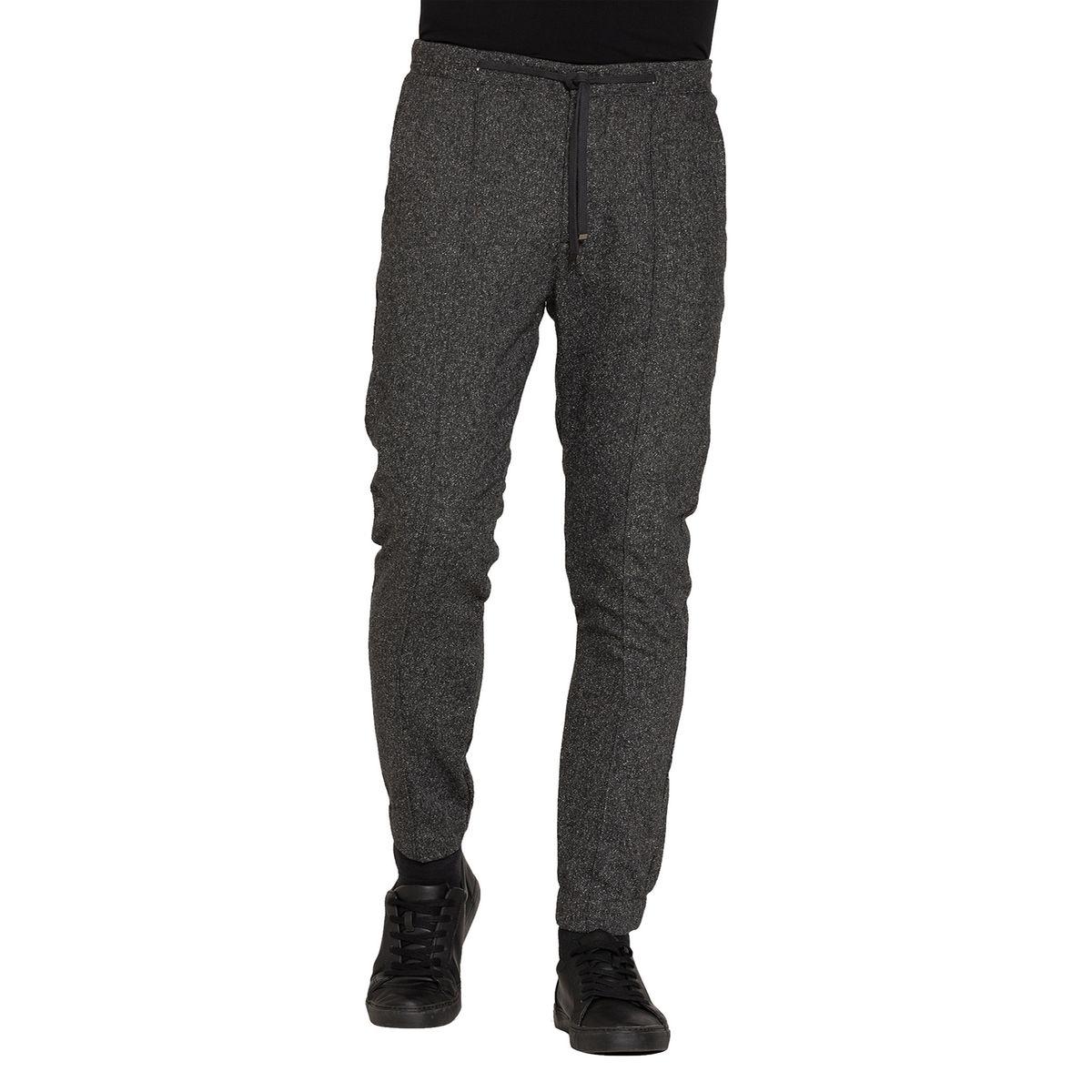 Pantalon en laine avec élastique à la taille