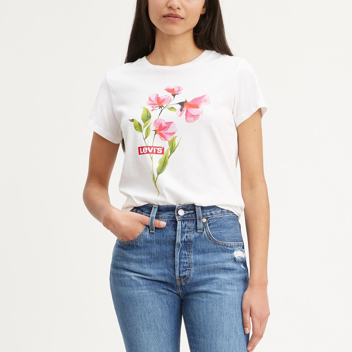 Camiseta de manga corta con motivo de flores