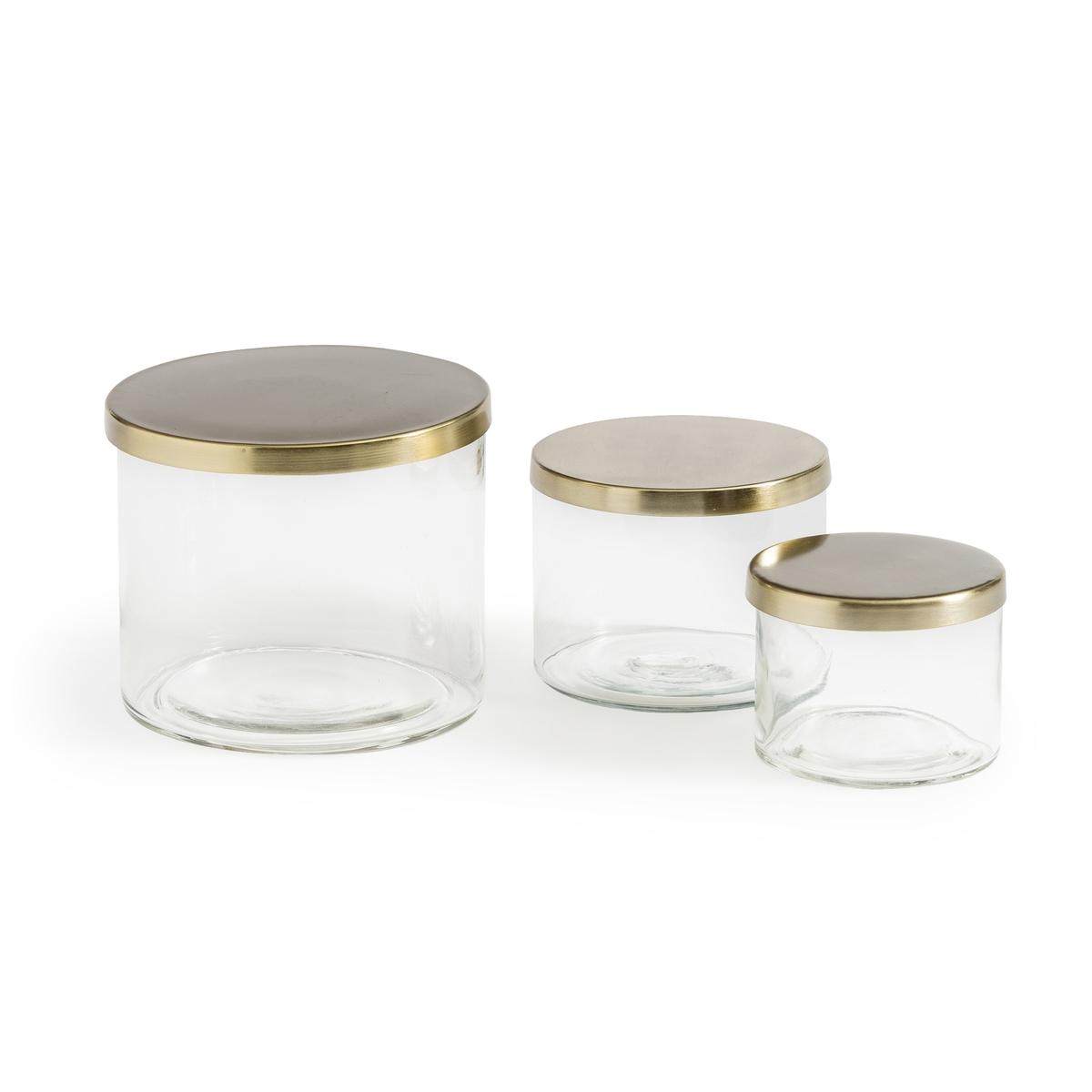 Комплект из 3 банок из LaRedoute Стекла Paco единый размер другие графин laredoute из дутого стекла calebasse единый размер другие