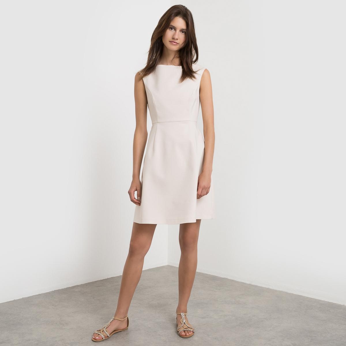 Платье без рукавов VIATLAS DRESSСостав и описание     Материал    50% хлопка, 46% полиамида, 4% эластана      Марка: VILA<br><br>Цвет: розово-бежевый<br>Размер: S