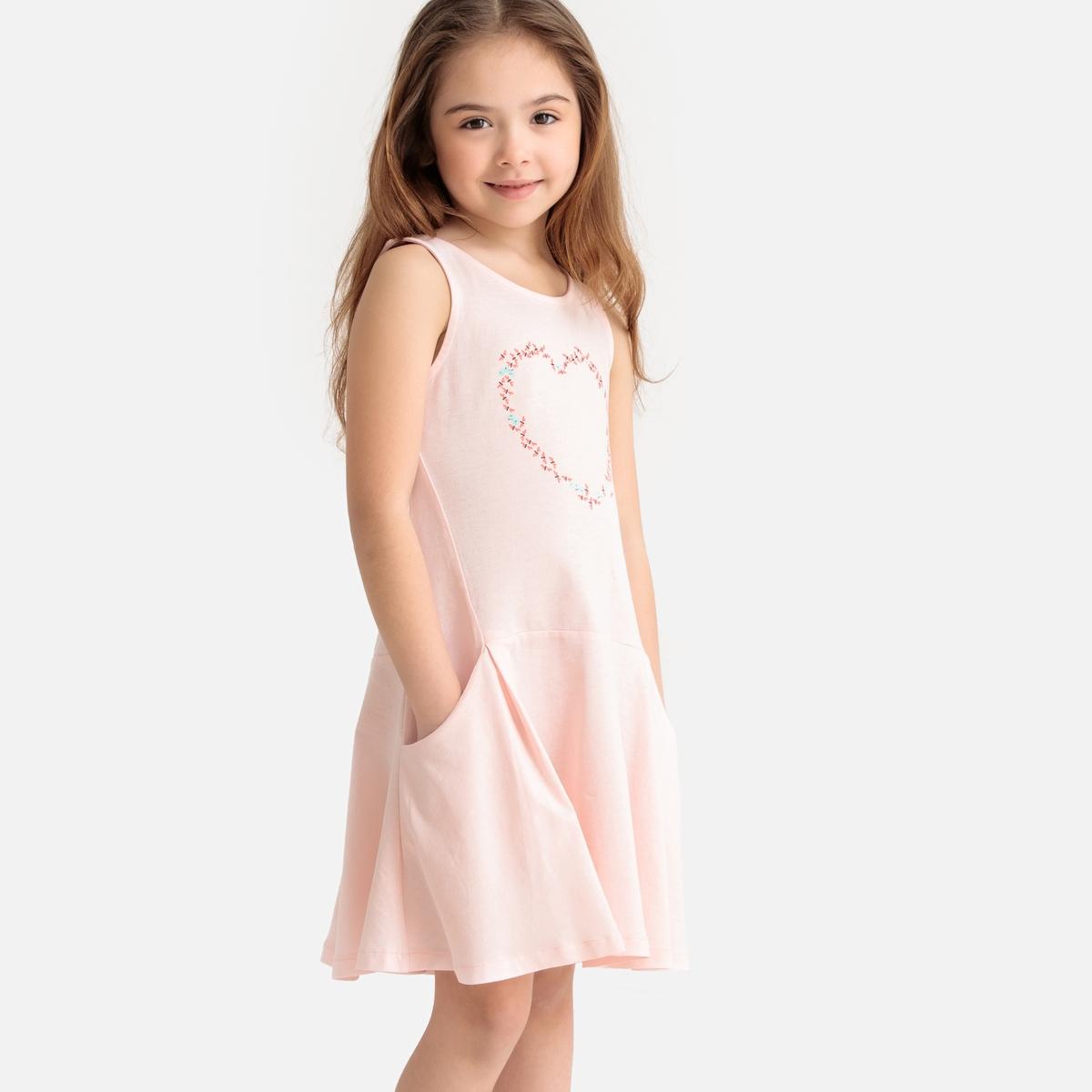 цены Платье La Redoute Расклешенное без рукавов 3 года - 94 см розовый