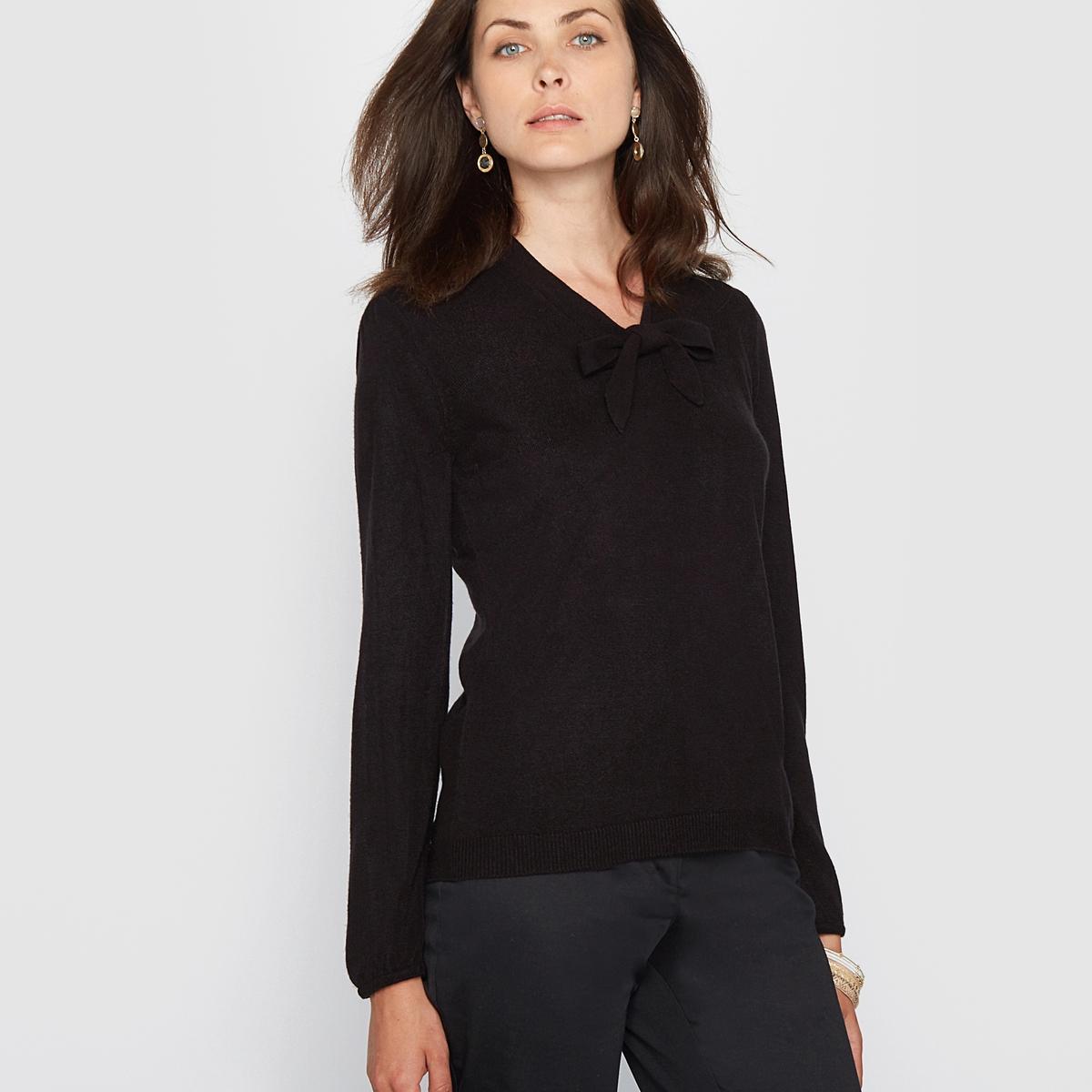 Пуловер с оригинальным галстучным рисунком