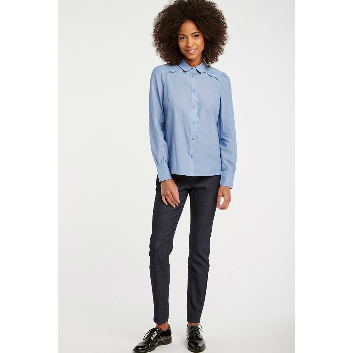 Рубашка La Redoute La Redoute 38 (FR) - 44 (RUS) синий брюки чино la redoute la redoute 38 fr 44 rus синий