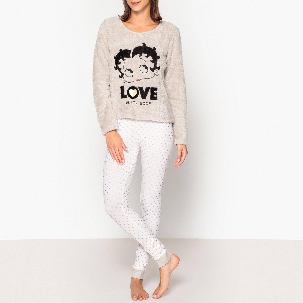 Пижама с длинными рукавами Betty Boop сумка betty boop a3309 10 betty 2015