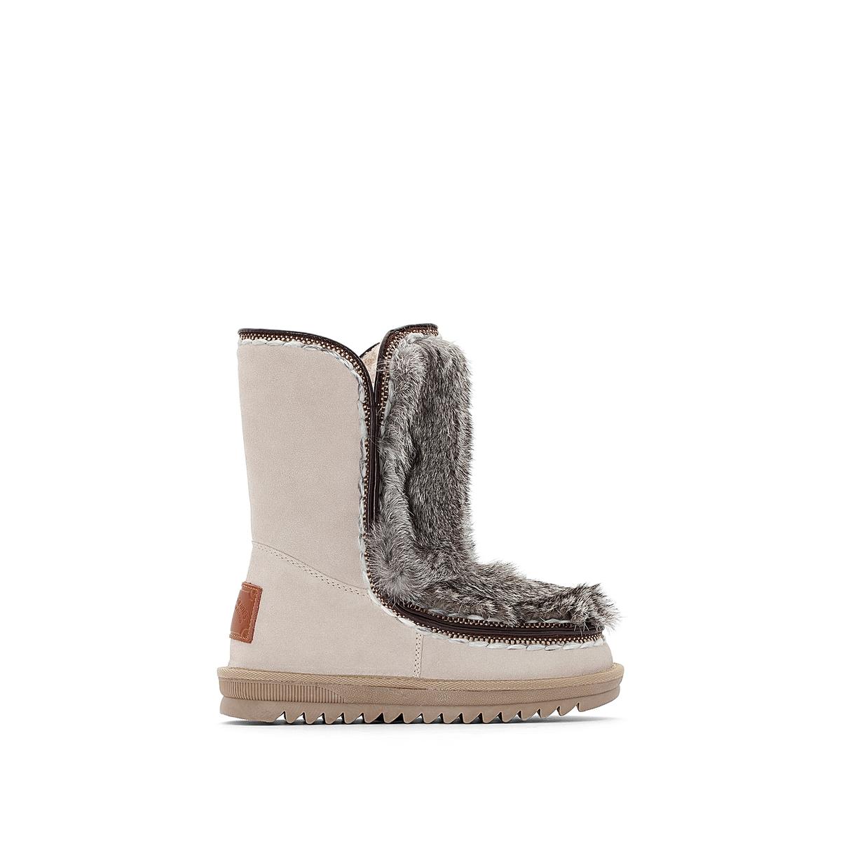 Сапоги кожаные на меху Joana цены онлайн