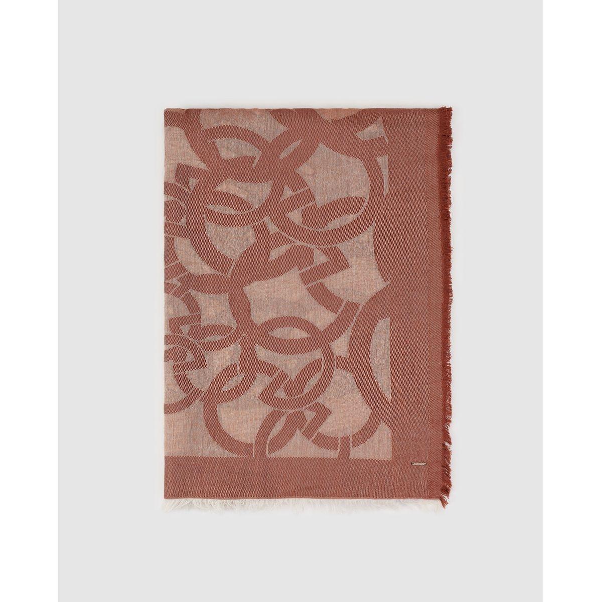 Grand foulard  avec imprimé de la marque