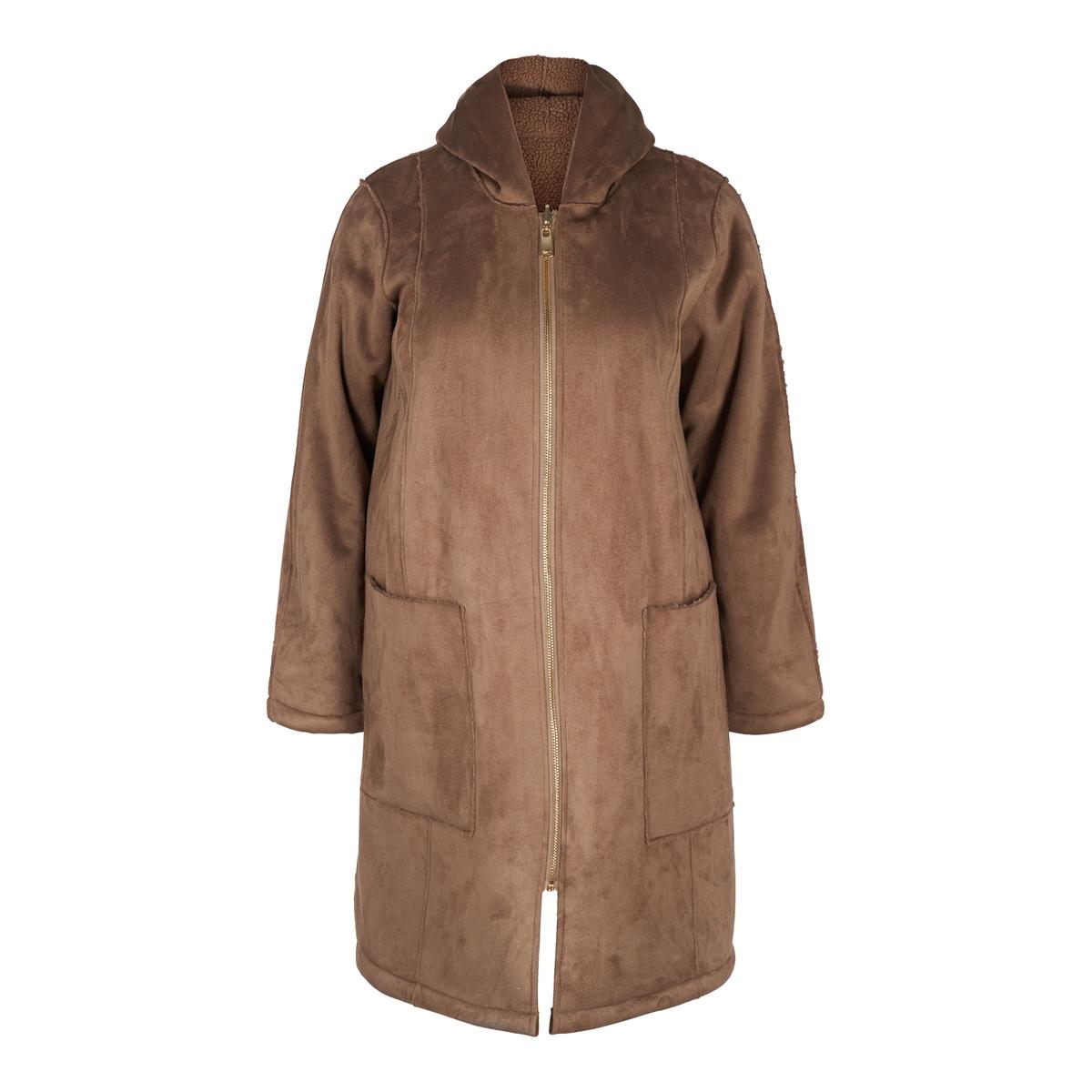 Пальто двустороннее, длинное с накладными карманами