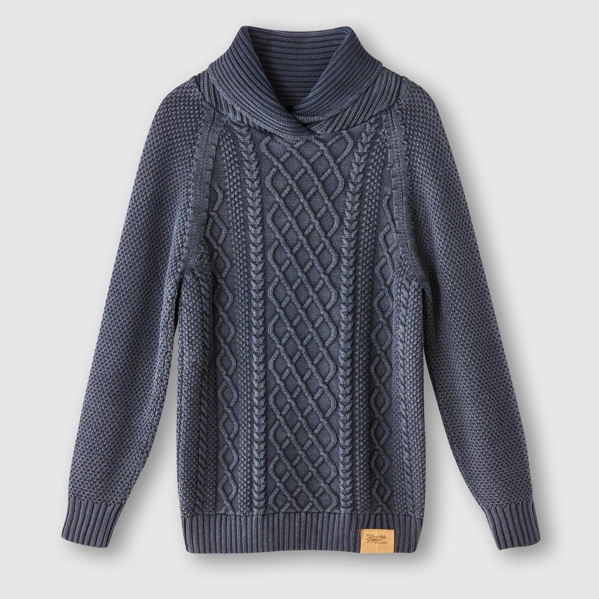 Пуловер с высоким воротником, 100% хлопкаСостав и описание:Материал: 100% хлопка.Марка: PETROL INDUSTRIES.<br><br>Цвет: синий,черный<br>Размер: M.M