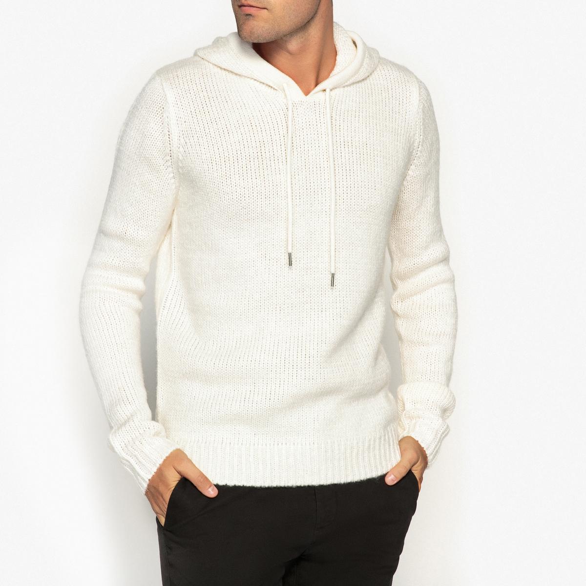 Пуловер с капюшоном из плотного трикотажа пуловер из плотного трикотажа cameron